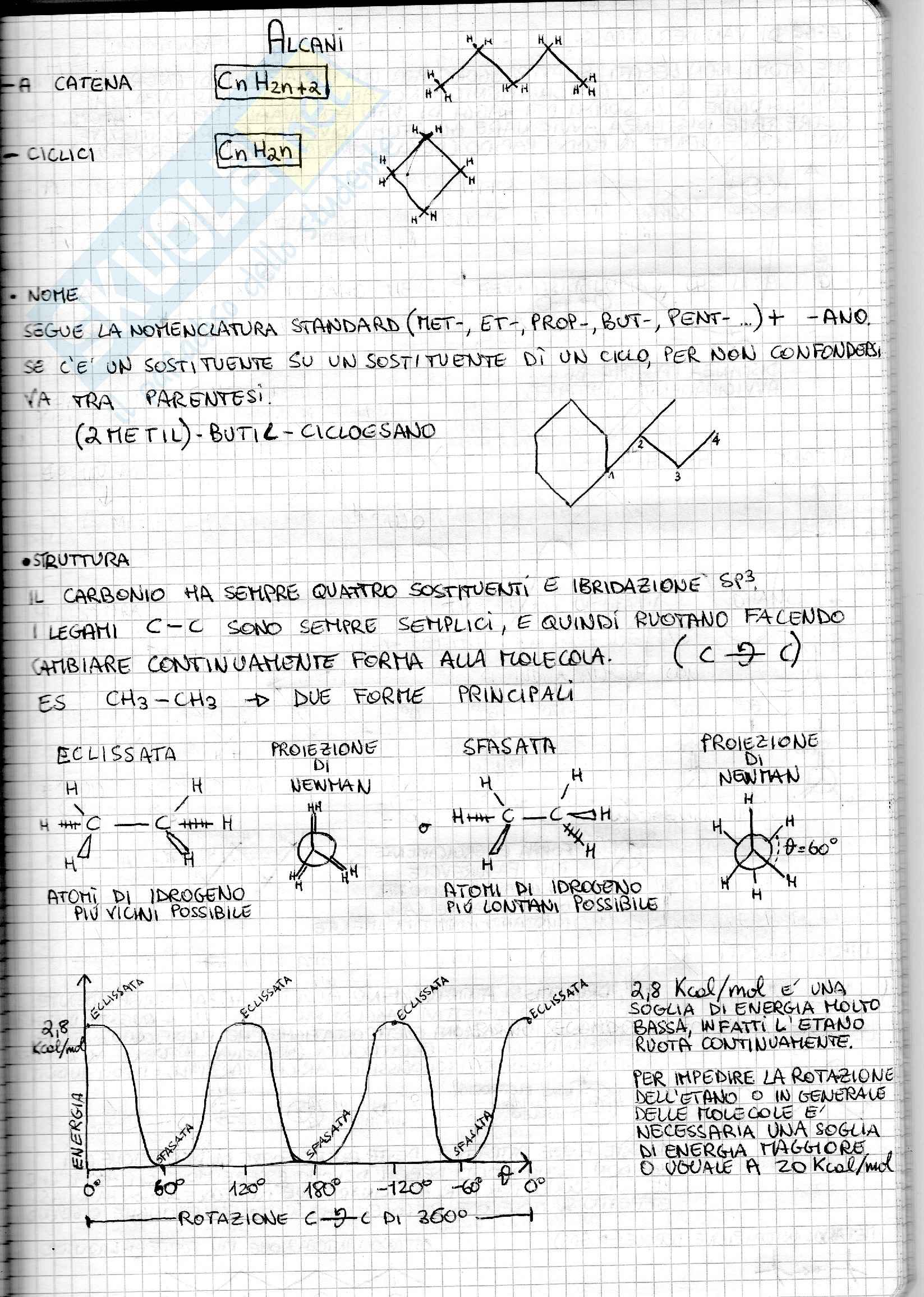 Riassunto esame Chimica Organica, prof. Guarna Pag. 16