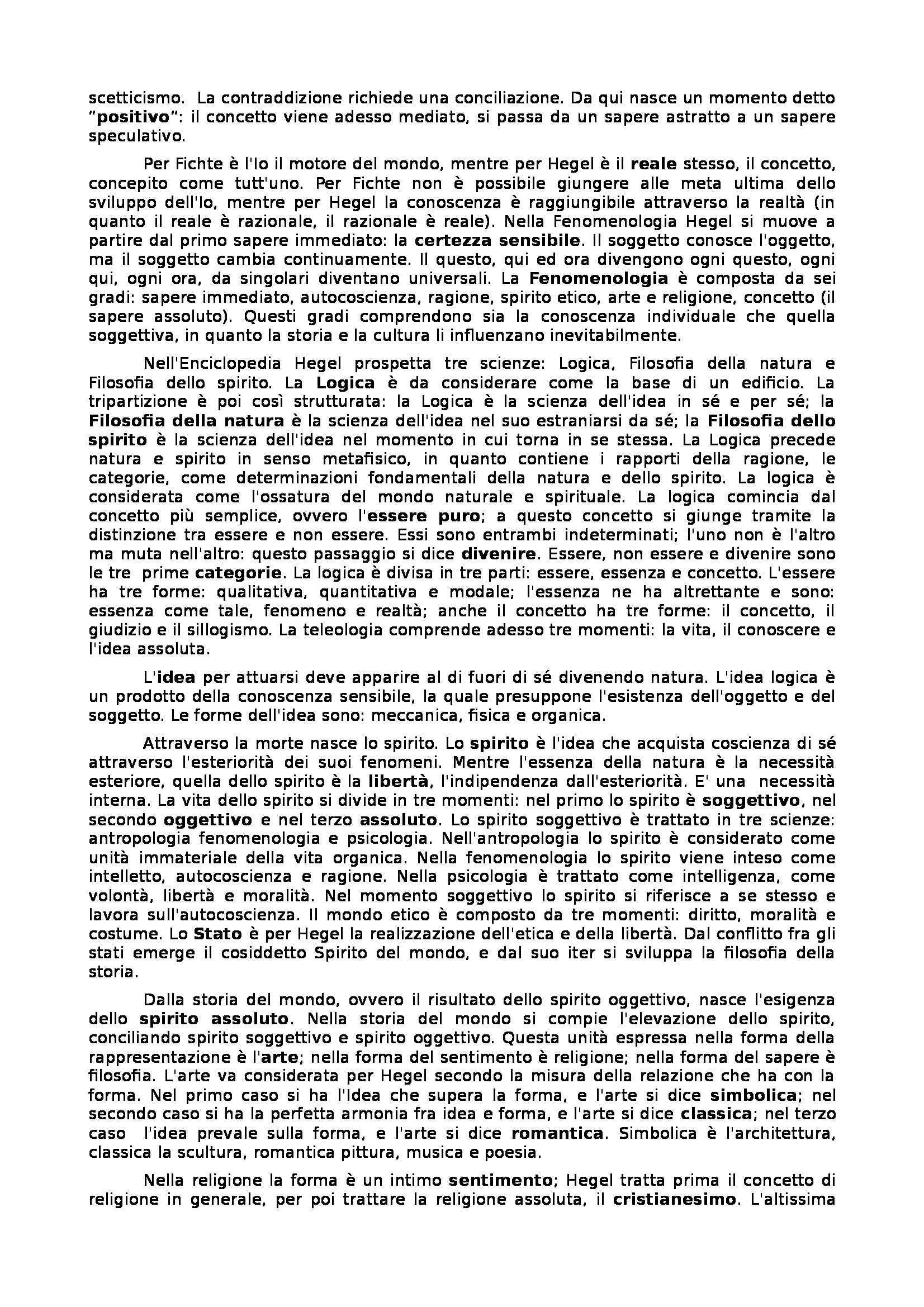 Riassunto esame Storia della filosofia: da Bacon ad Hegel, prof. Rizzo Pag. 26