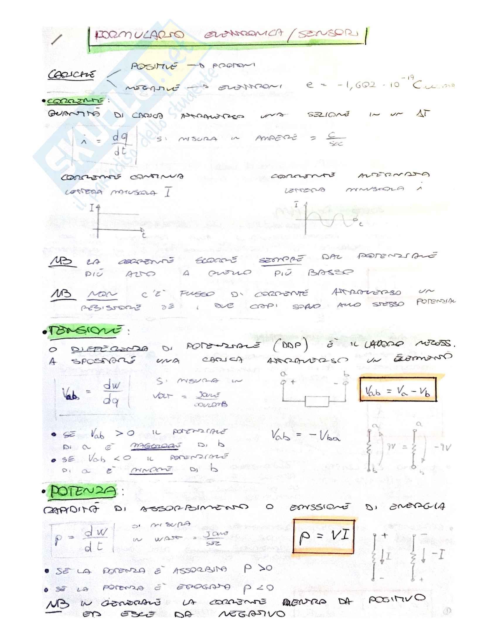 Formulario di elettrotecnica