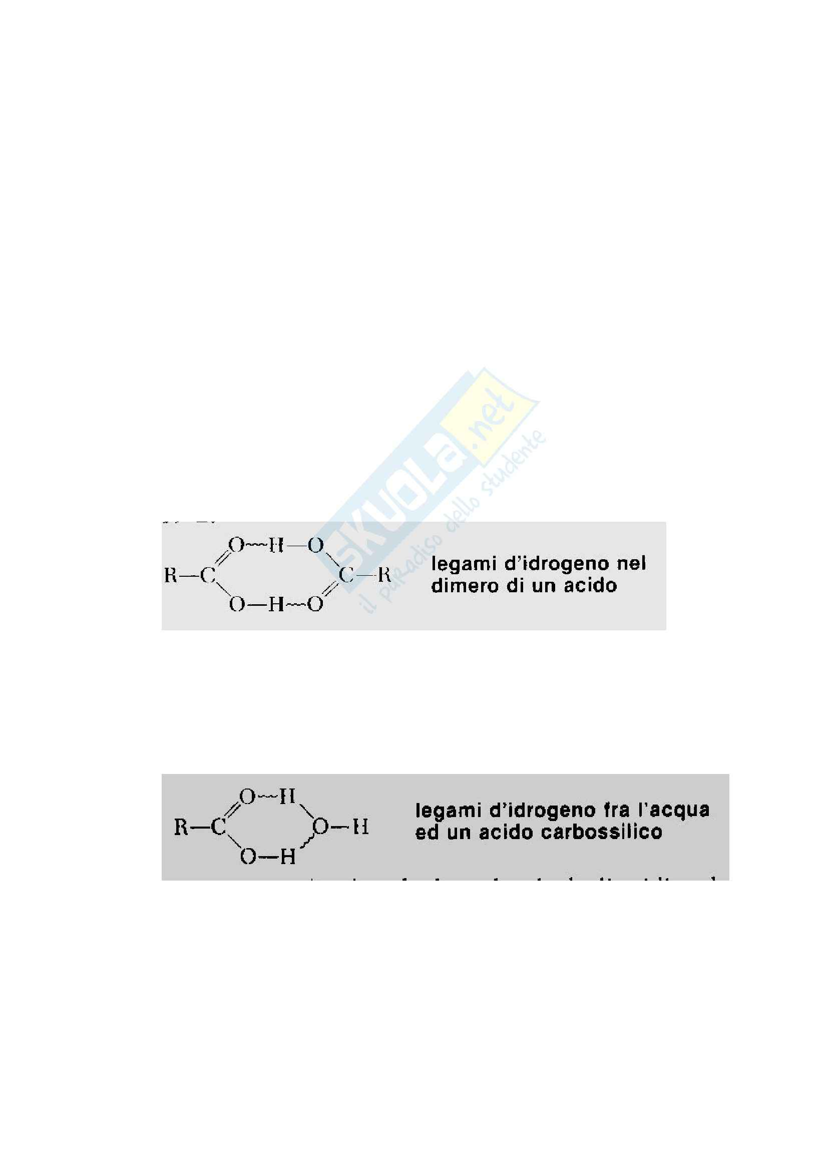 Basi chimiche dei sistemi biologici - composti carbossilici