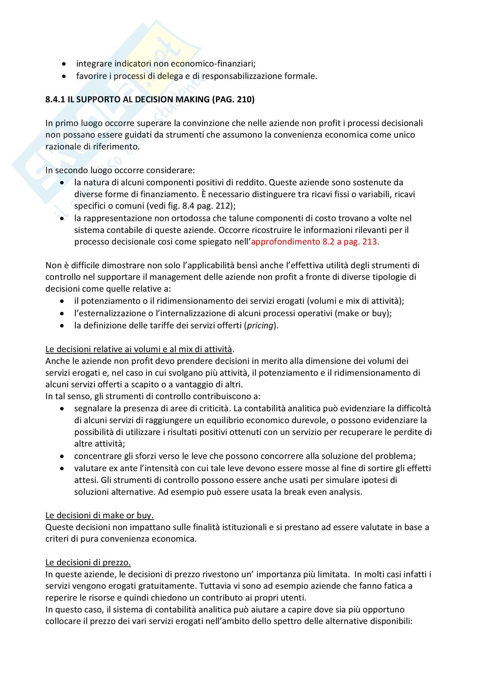 Riassunto esame programmazione e controllo progredito prof. baraldi libro consigliato I Sistemi di controllo direzionale autore Baraldi Pag. 51