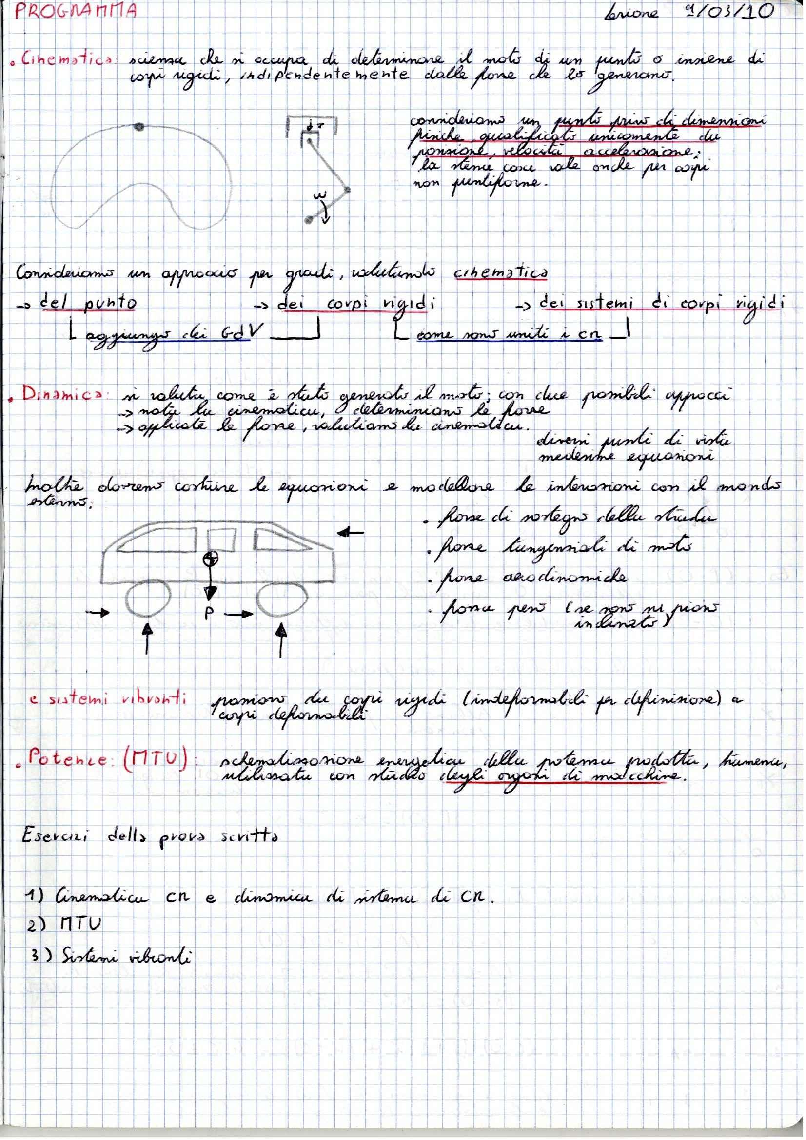 Meccanica applicata alle macchine -  Appunti (prima parte)