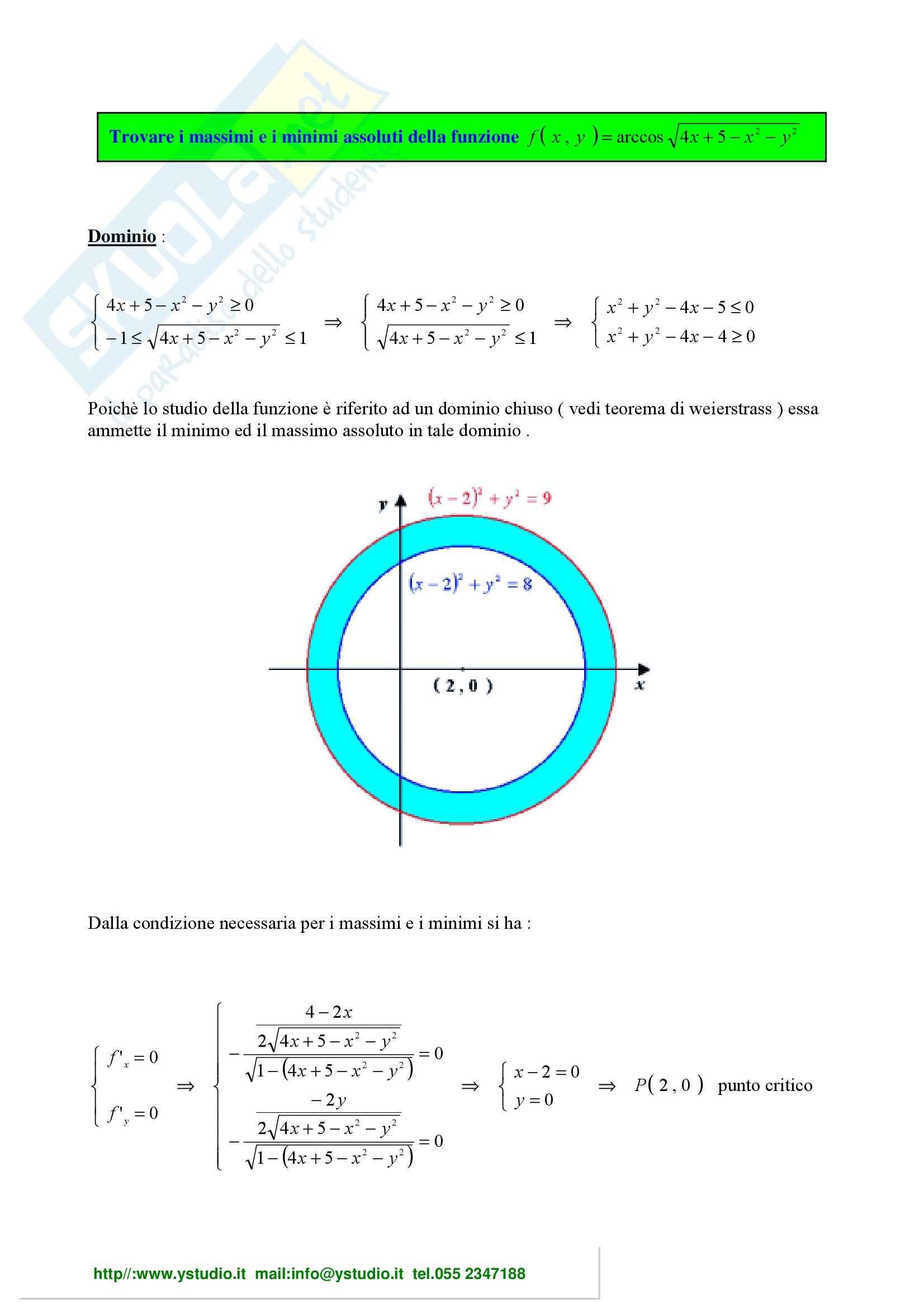 Analisi matematica 2 - Esercizi