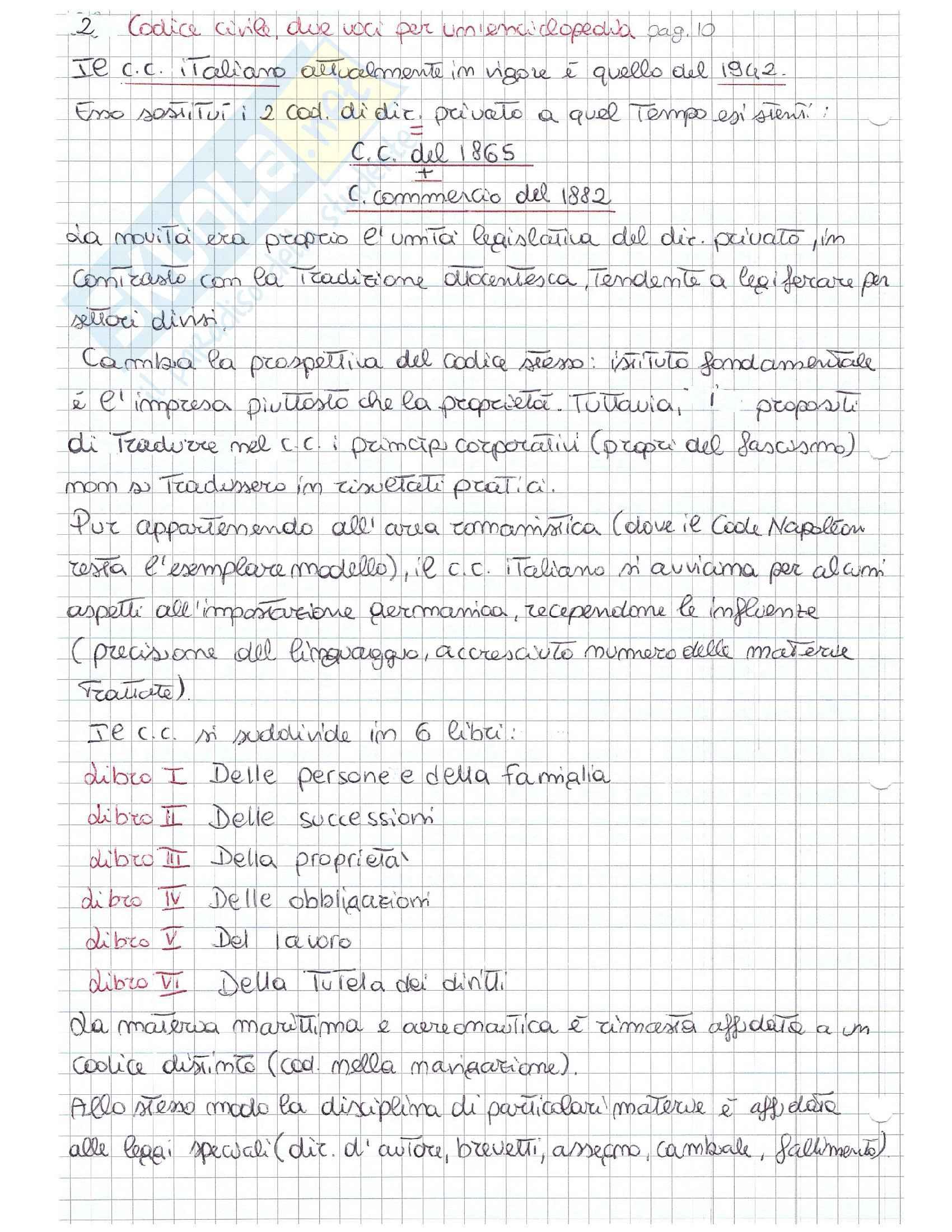 Riassunto esame Sistemi Giuridici Comparati, Prof. Autorino UNISA, testo consigliato autore Rescigno - Storia e geografia di un'idea Pag. 2