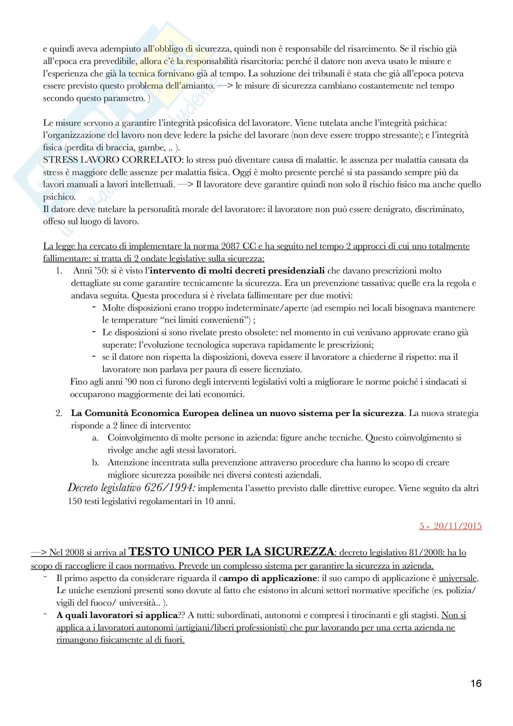Diritto del lavoro - II Modulo Prof. Emanuele Menegatti. Appunti presi a lezione. Pag. 16