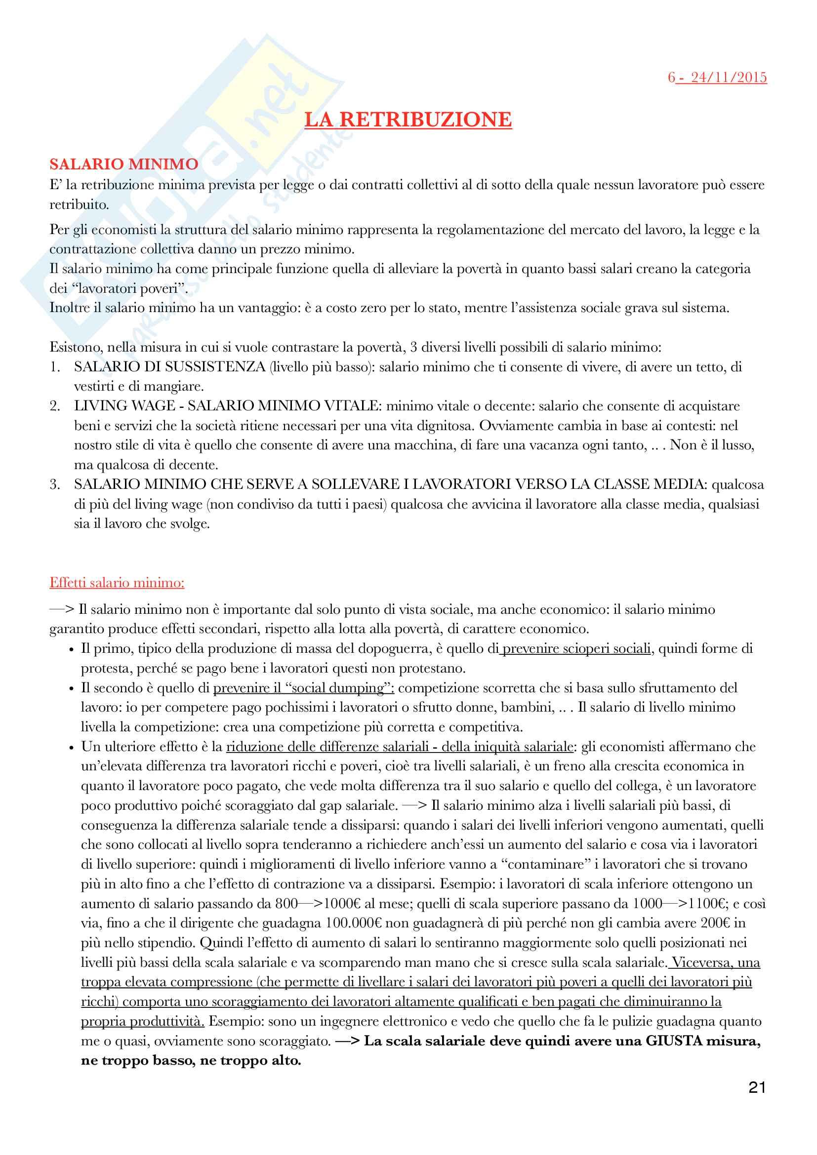 Diritto del lavoro - II Modulo Prof. Emanuele Menegatti. Appunti presi a lezione. Pag. 21
