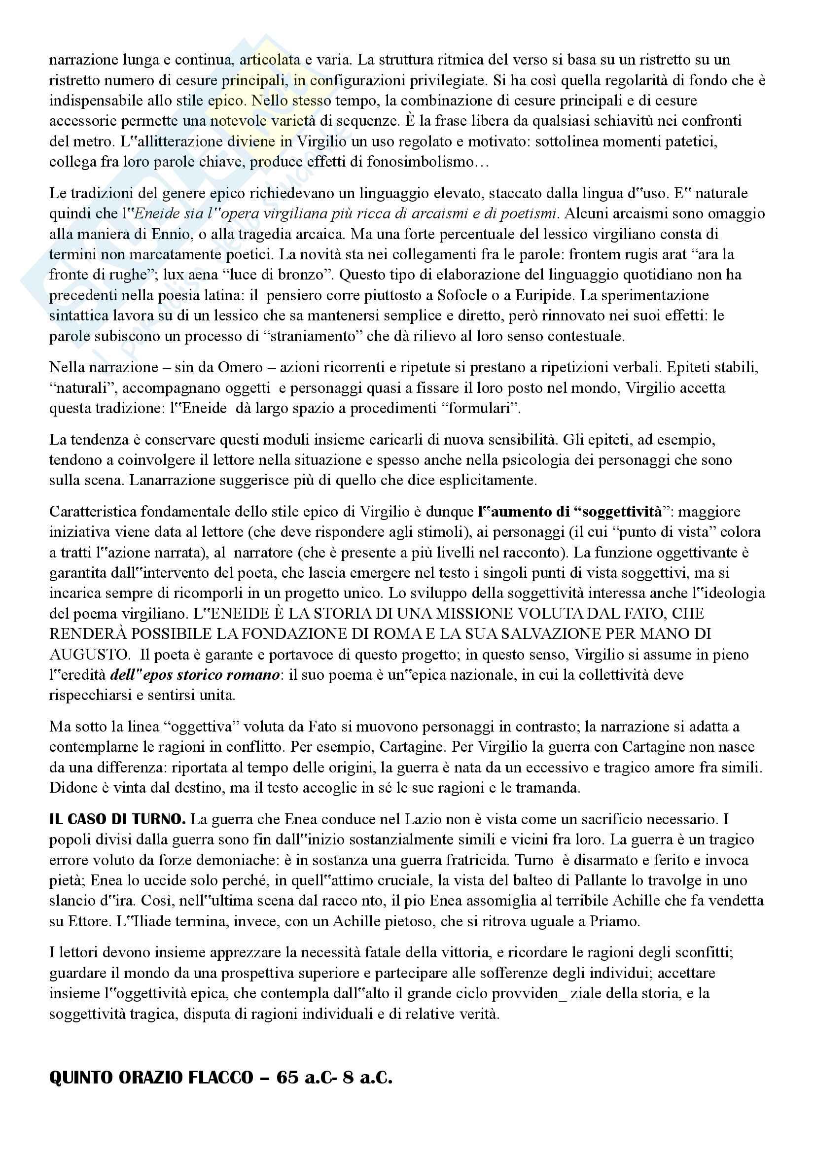 Letteratura latina Dalle origini all'età augustea Pag. 46