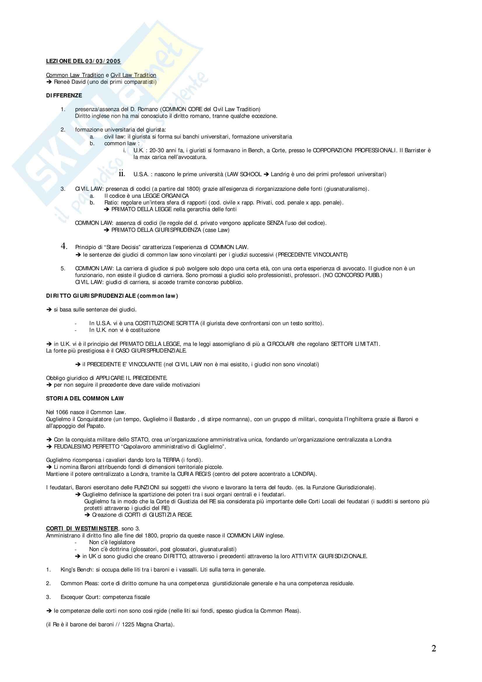 Diritto privato comparato - Appunti Pag. 2