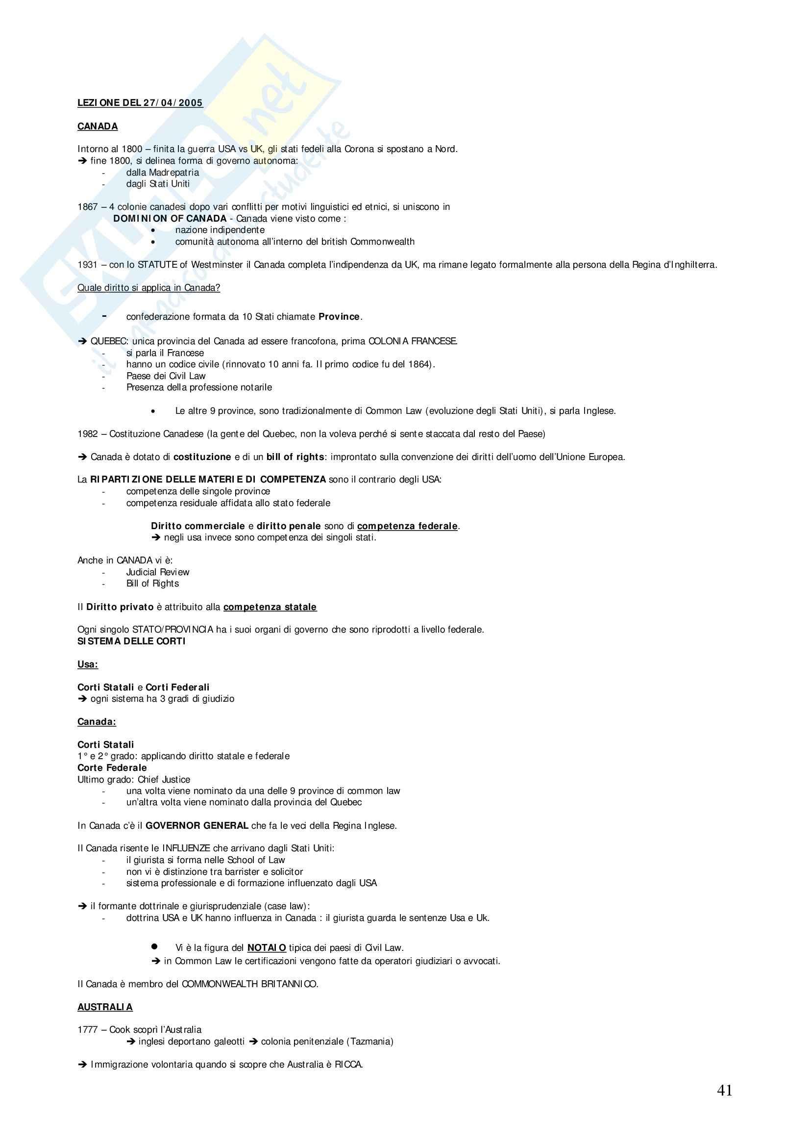 Diritto privato comparato - Appunti Pag. 41