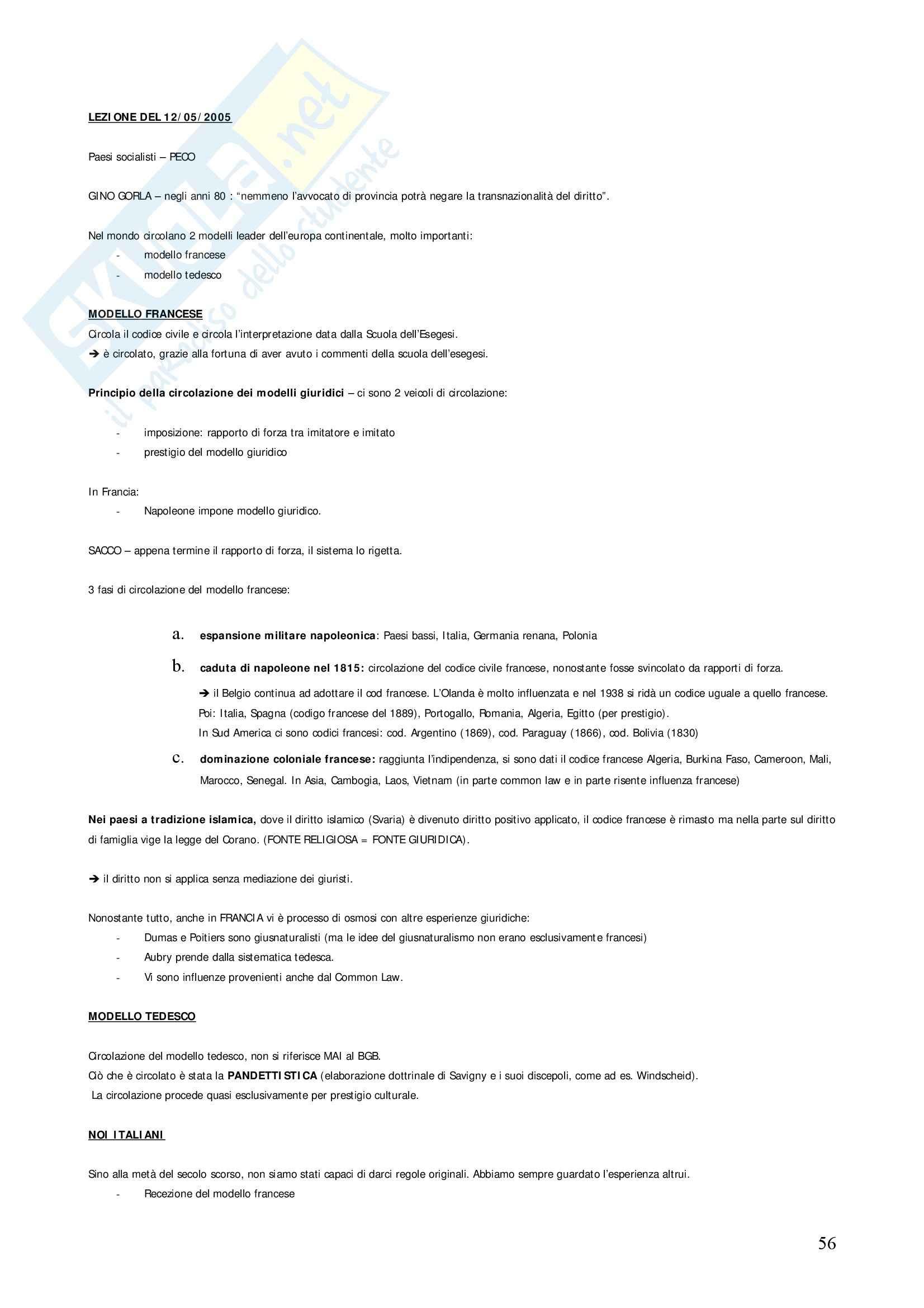 Diritto privato comparato - Appunti Pag. 56