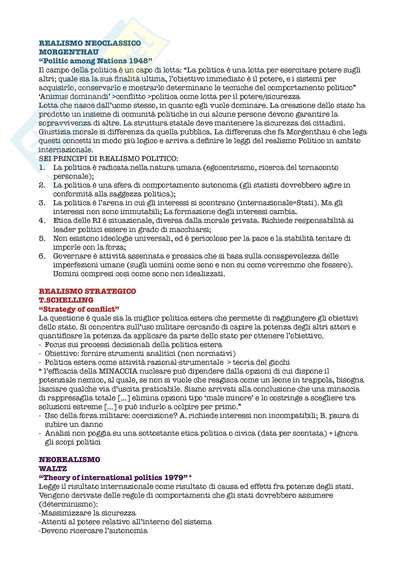 Relazioni internazionali Pag. 41