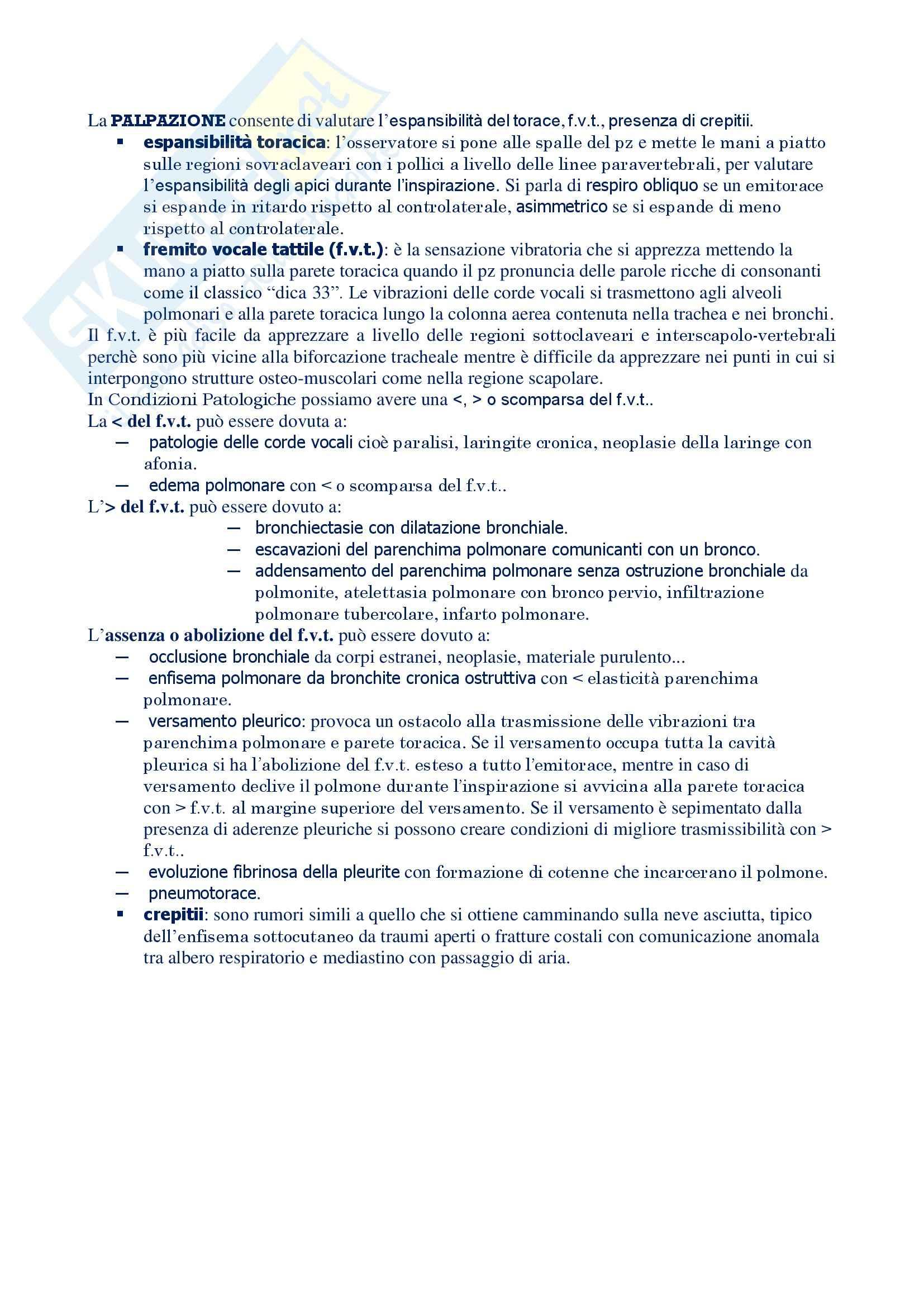 Malattie dell'apparato respiratorio - esame obiettivo torace Pag. 2