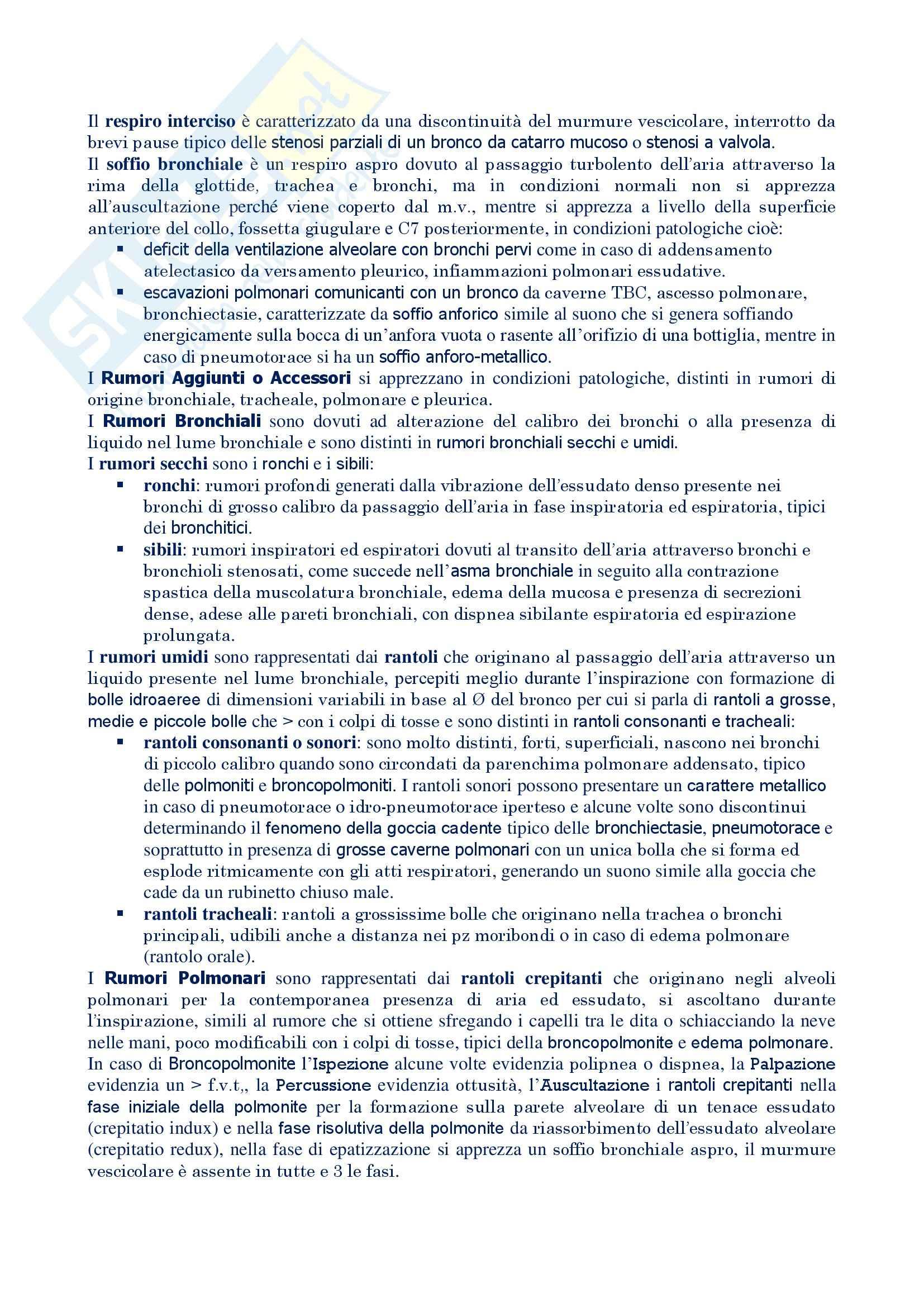 Malattie dell'apparato respiratorio - esame obiettivo torace Pag. 6