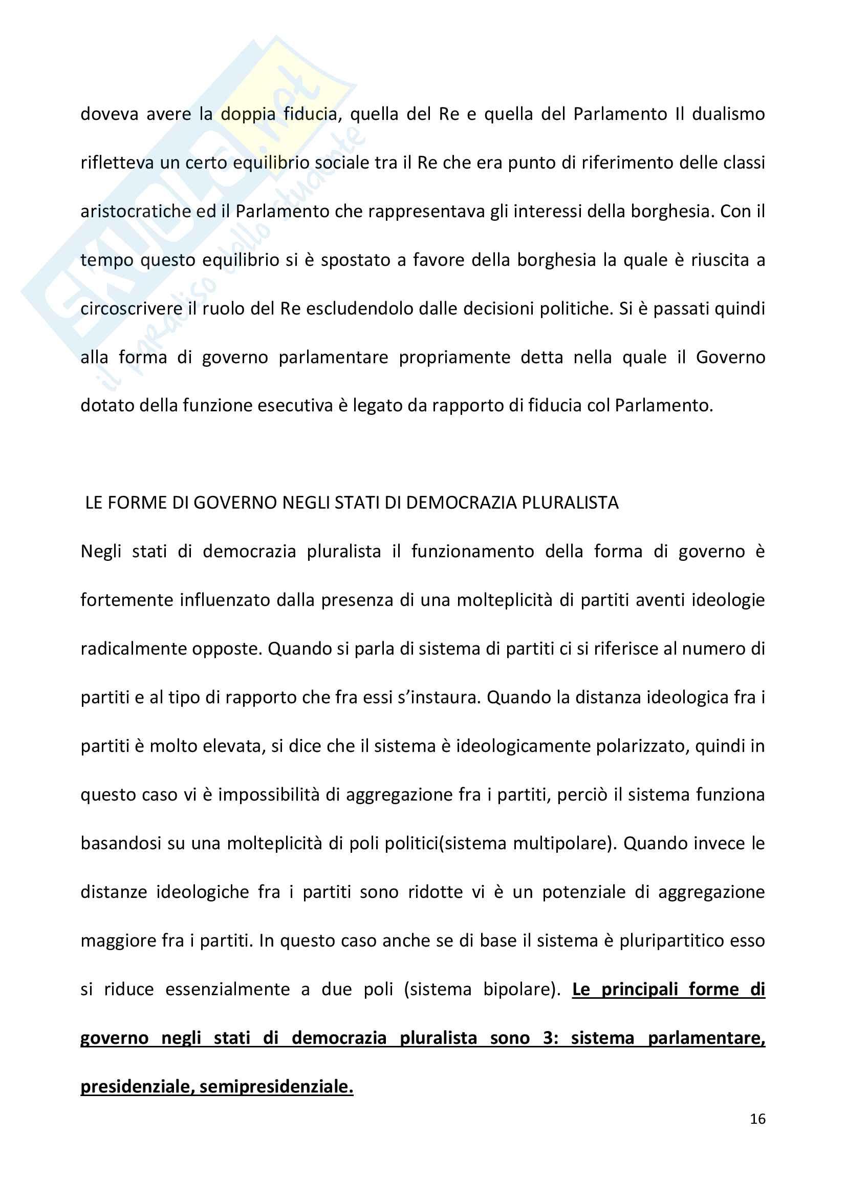 Diritto pubblico + domande Pag. 16