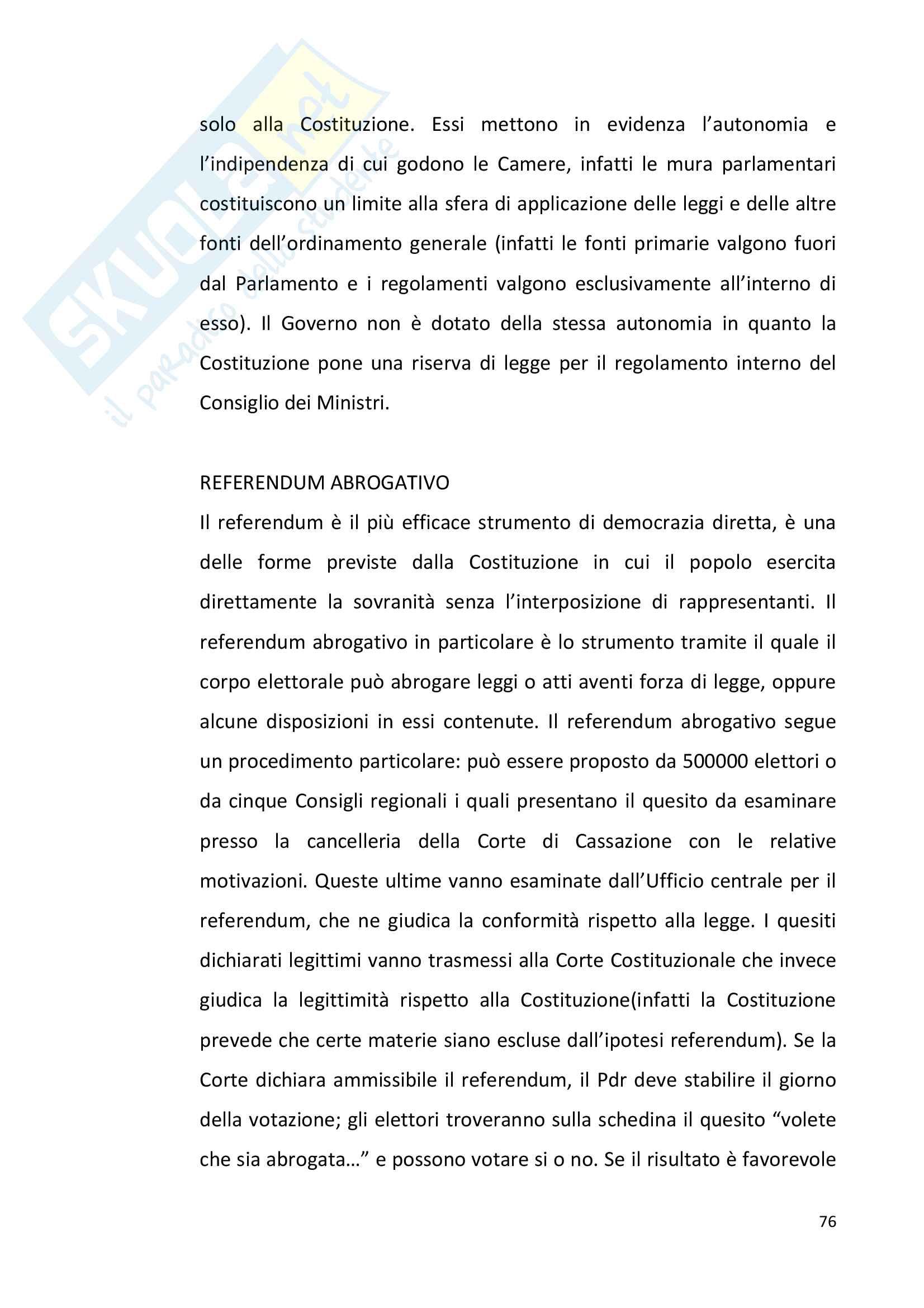 Diritto pubblico + domande Pag. 76