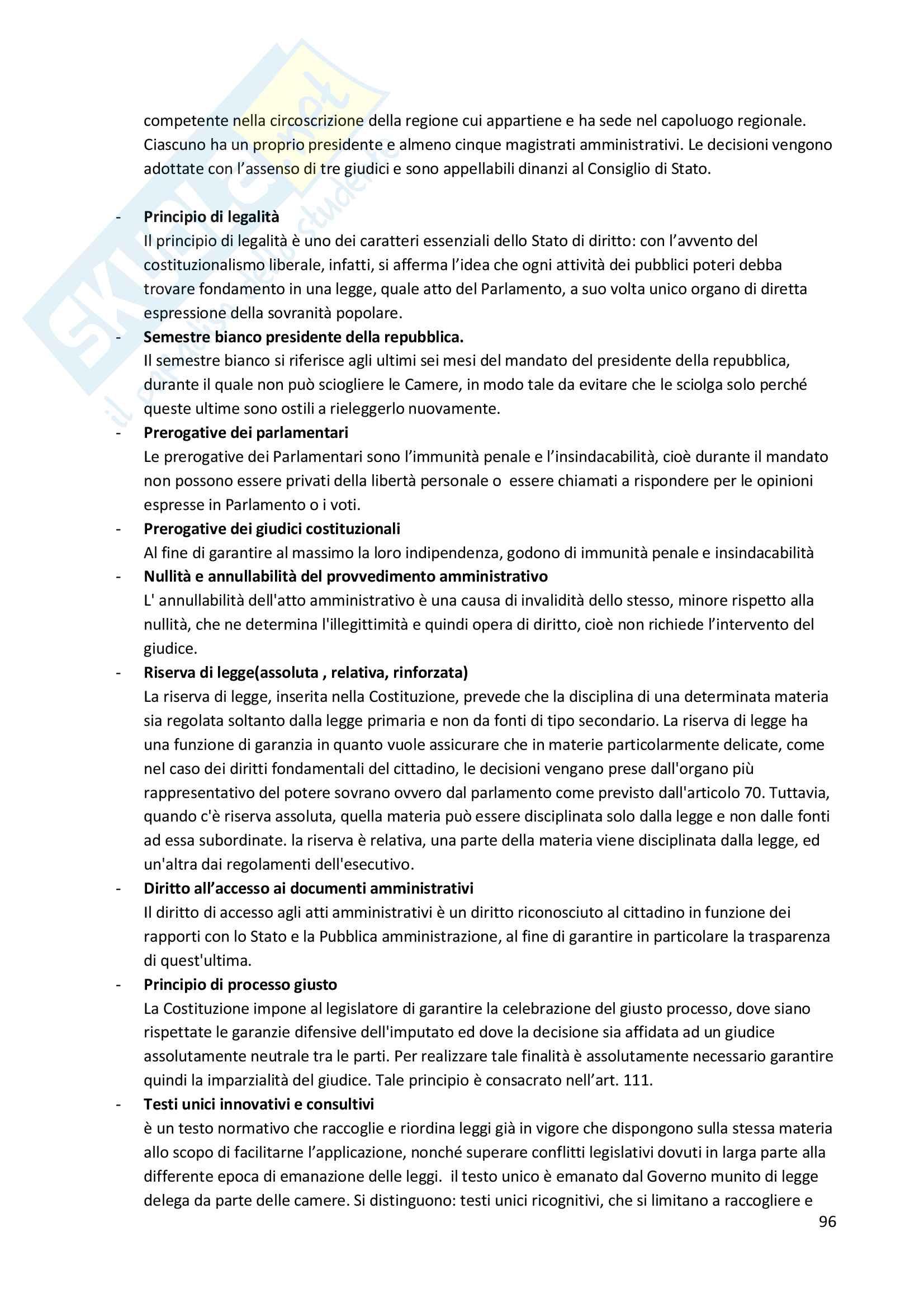 Diritto pubblico + domande Pag. 96