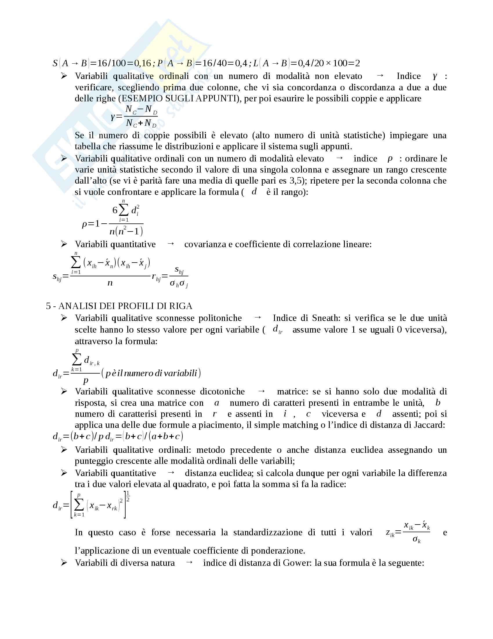 Statistica Aziendale Pratica Pag. 2