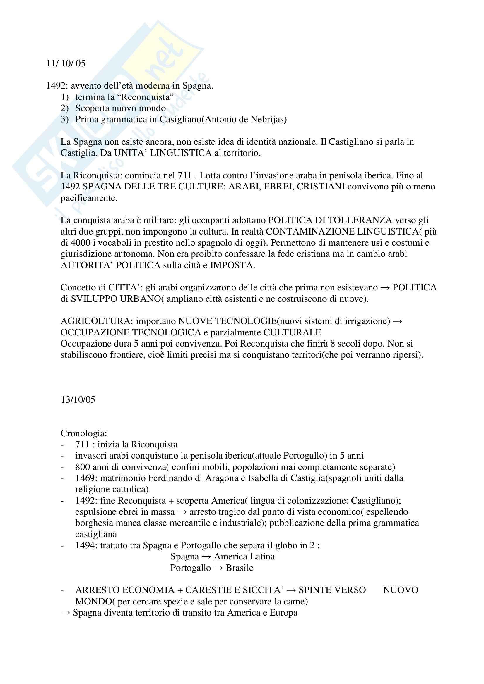 Letteratura spagnola - appunti generici