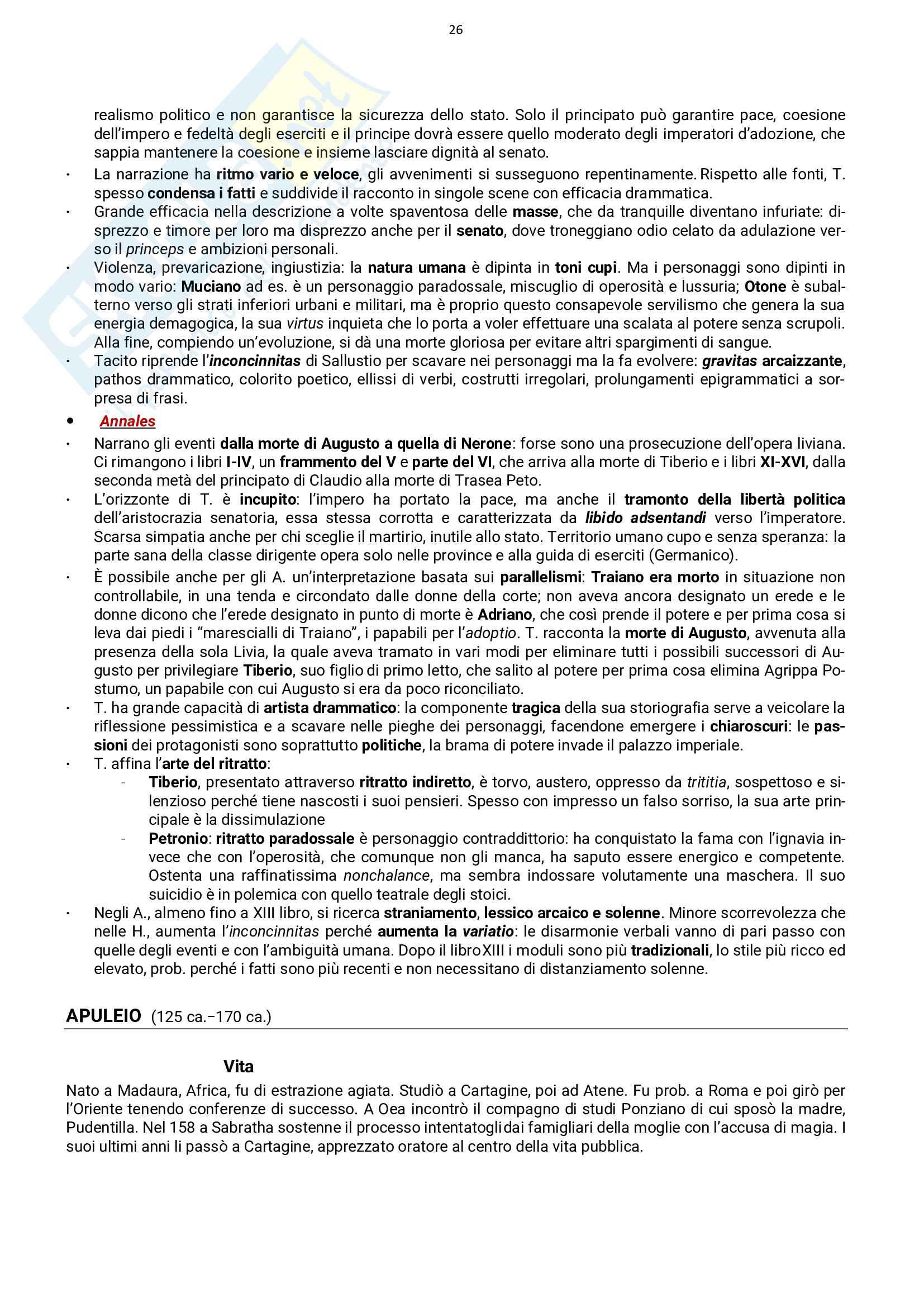 Autori latini: vita e opere, esame Letteratura Latina, prof. Stucchi, libro consigliato Conte Pag. 26