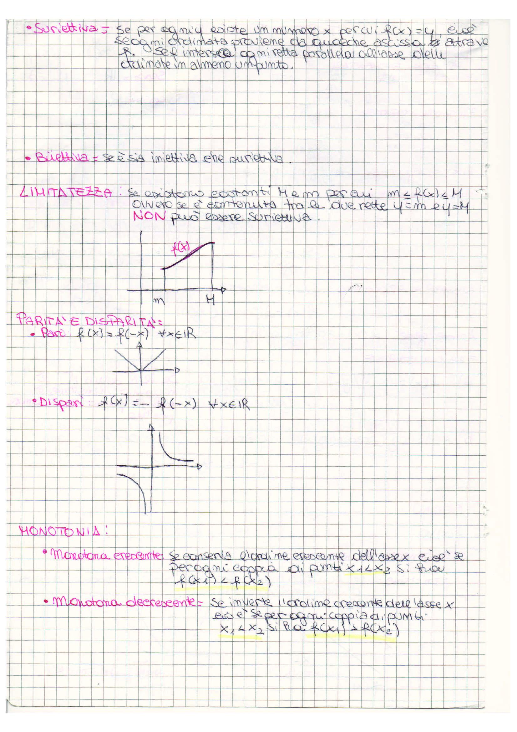 Schema studio funzione, Analisi matematica I Pag. 2