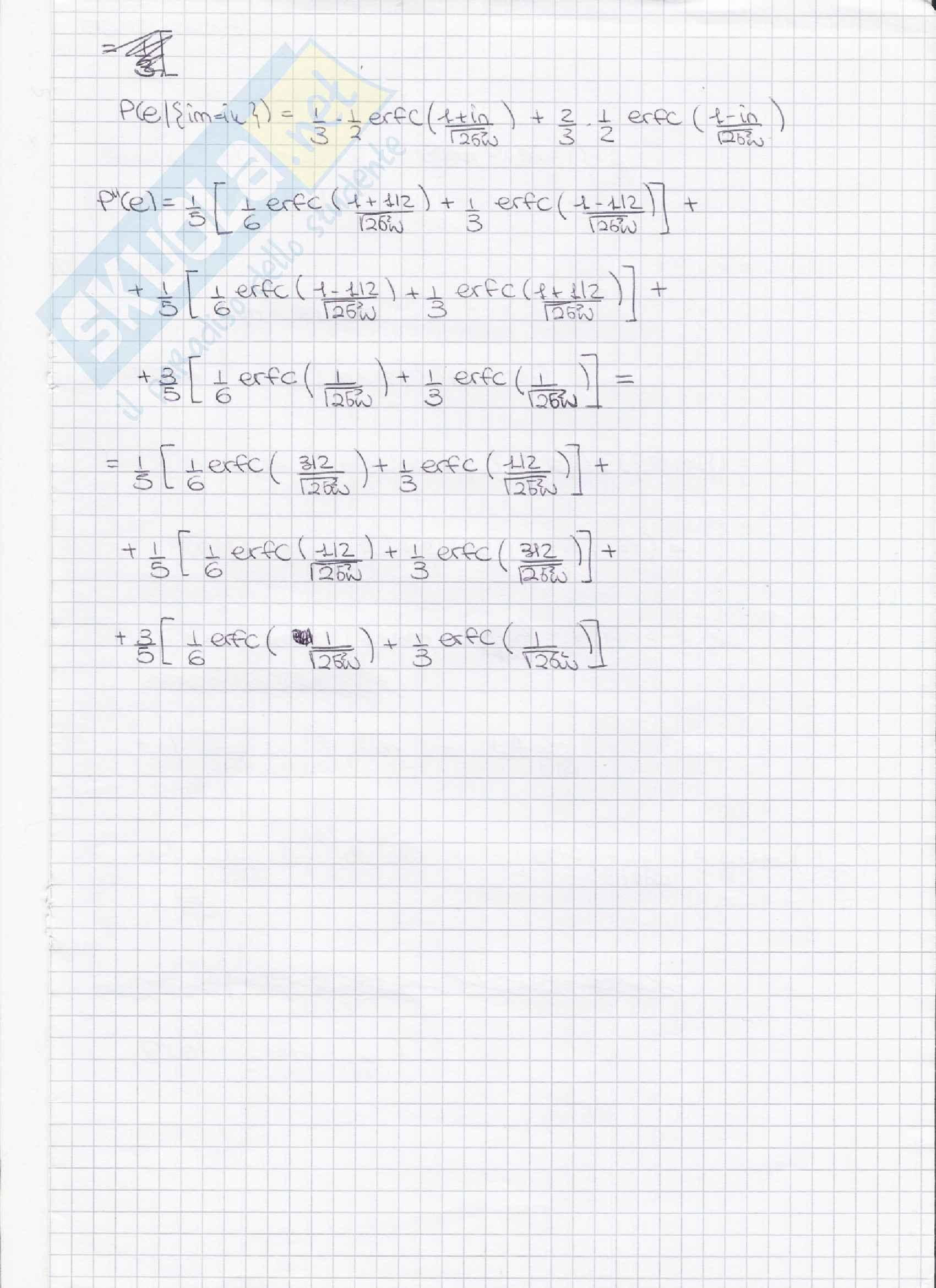 Trasmissione numerica - esercitazione con soluzione 2010 Pag. 6