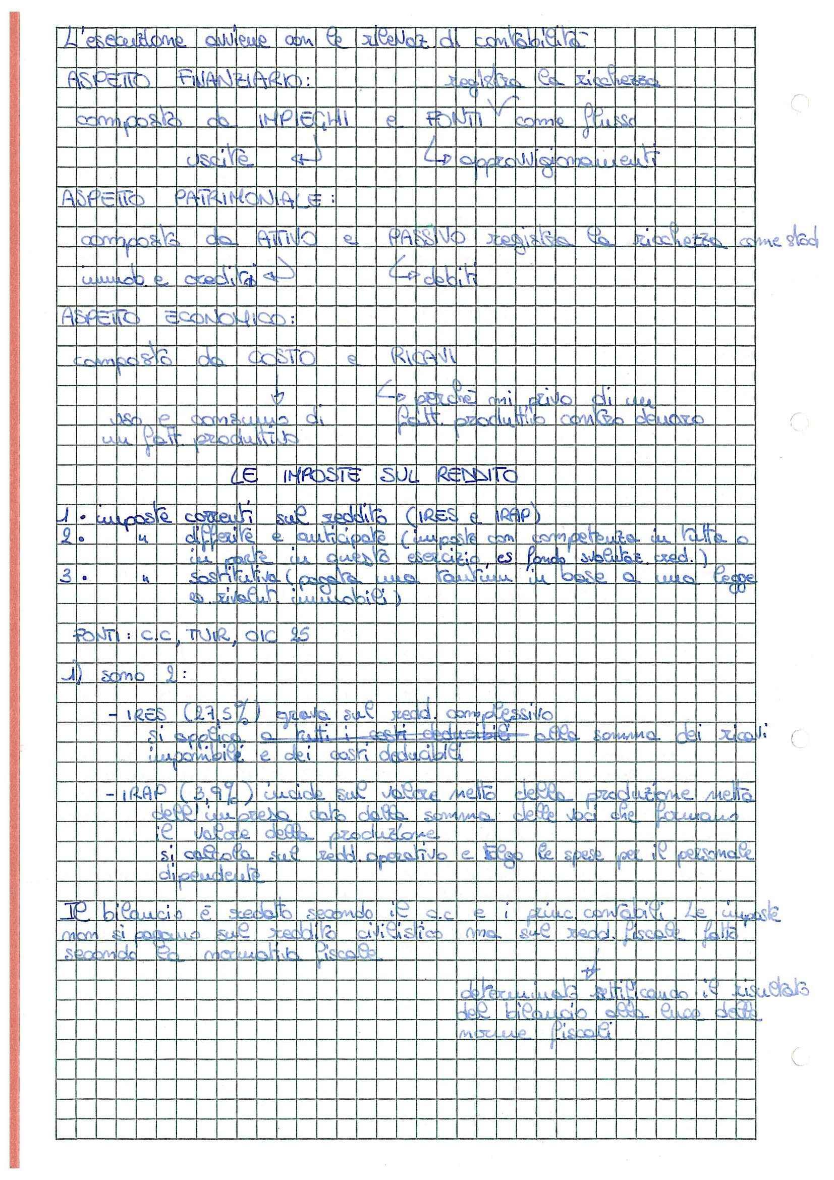 Bilancio d'esercizio - Appunti Pag. 6
