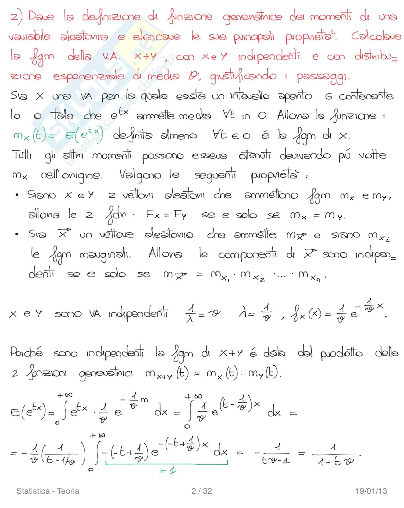 Risposte alle domande, Statistica Pag. 2