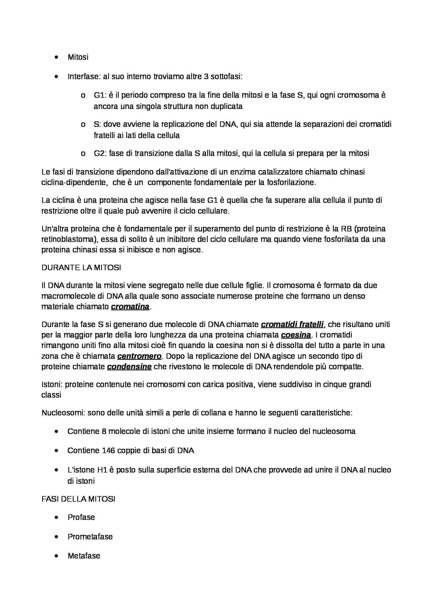 Riassunto esame Biologia Umana, prof. Barbieri, libro consigliato Biologia umana, Grasso, Praglia Pag. 36