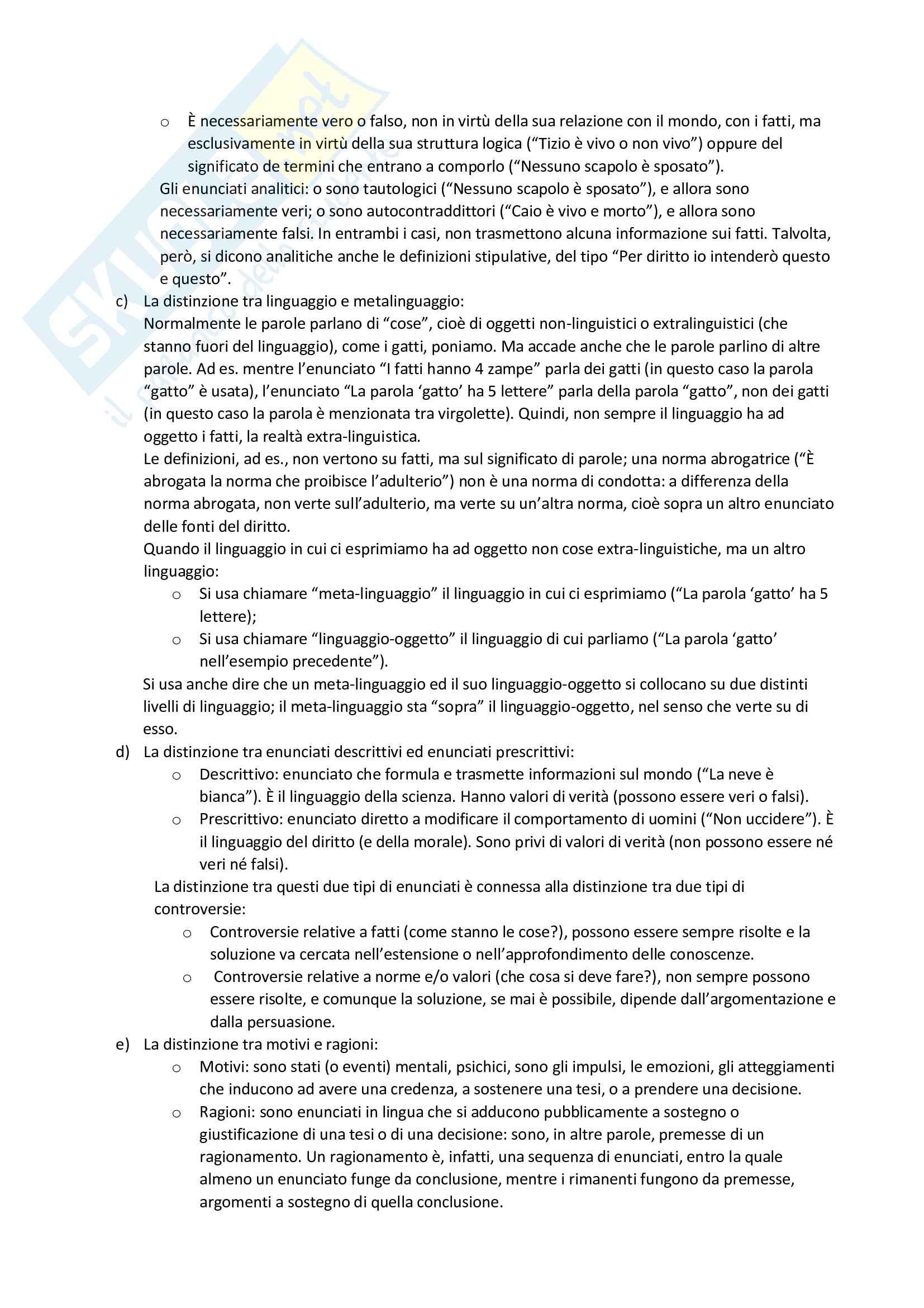 Riassunto esame filosofia del diritto, prof. Velluzzi, libro consigliato Filosofia del diritto positivo, Guastini Pag. 2