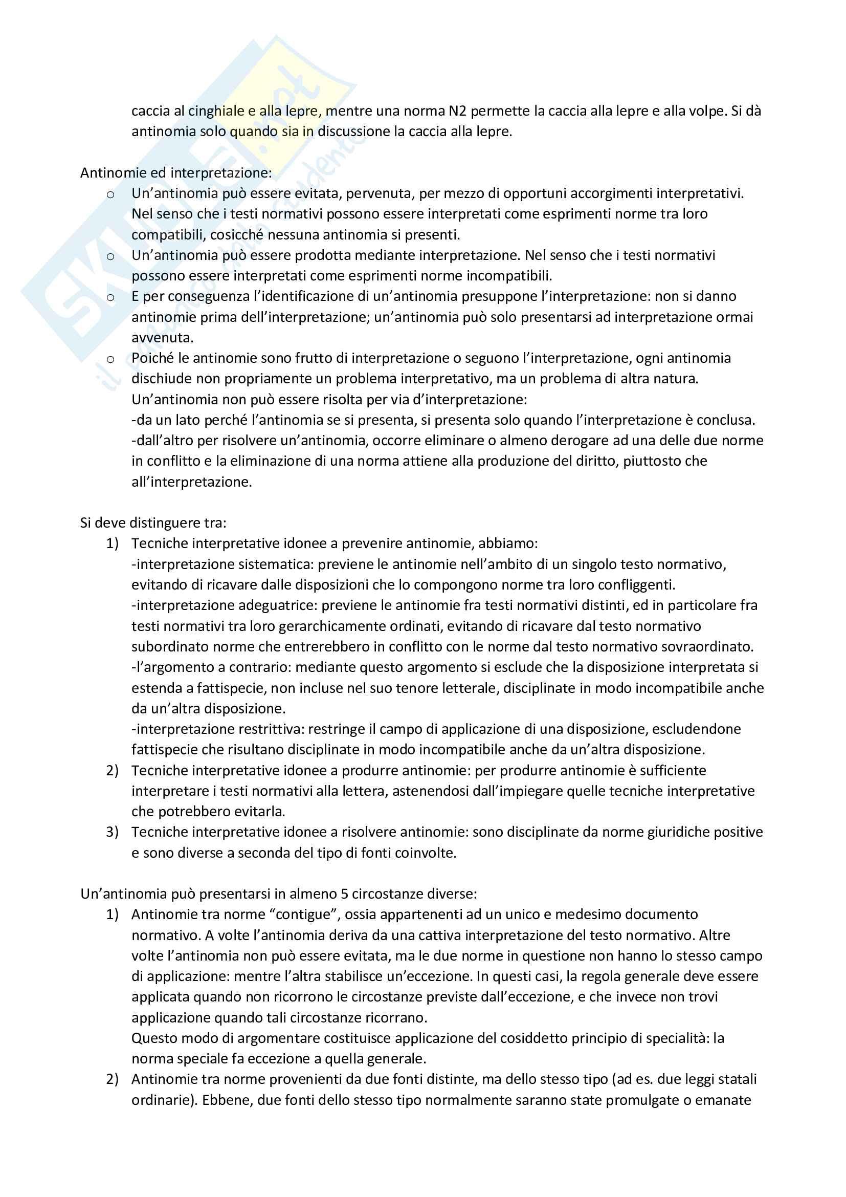Riassunto esame filosofia del diritto, prof. Velluzzi, libro consigliato Filosofia del diritto positivo, Guastini Pag. 21