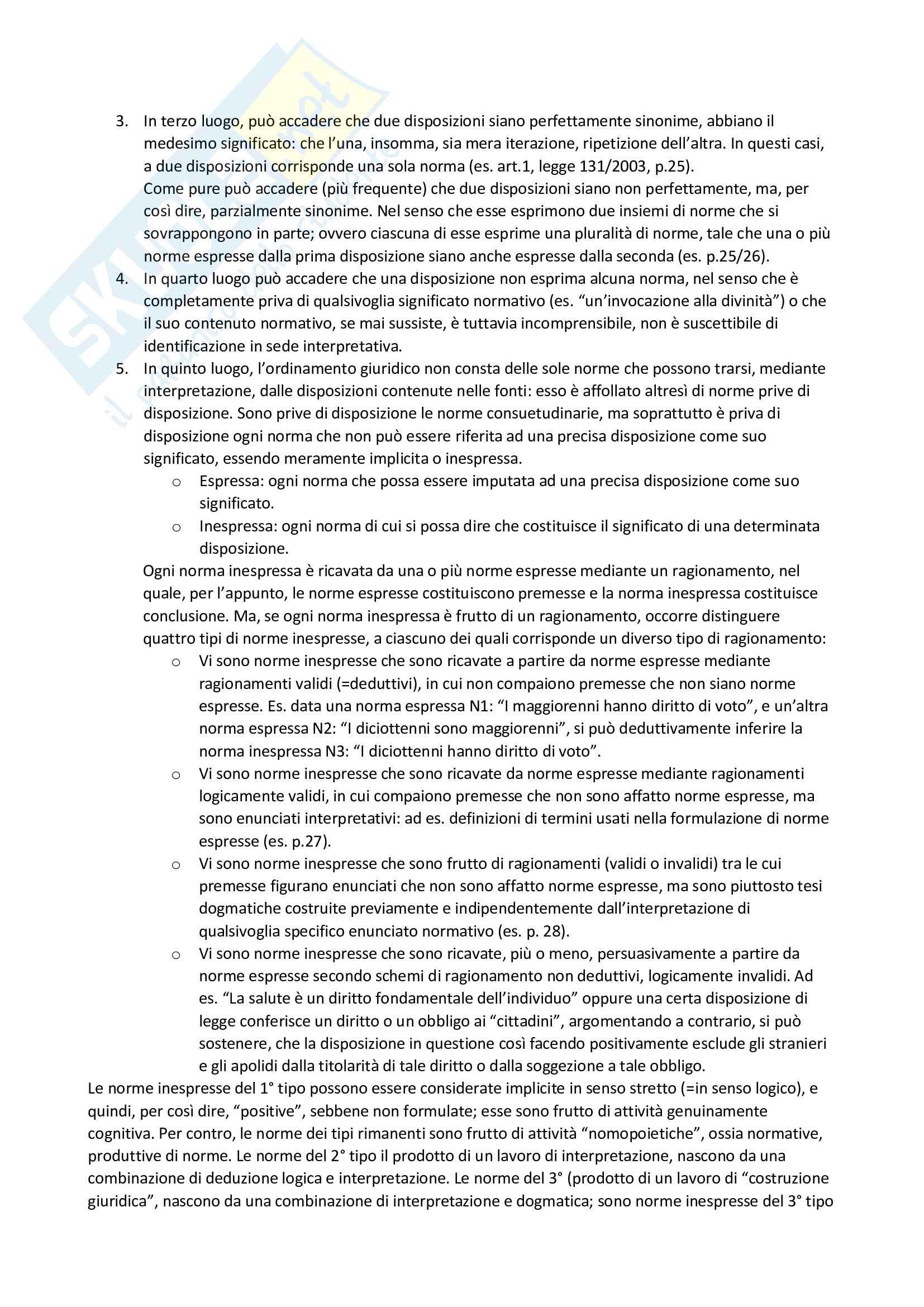 Riassunto esame filosofia del diritto, prof. Velluzzi, libro consigliato Filosofia del diritto positivo, Guastini Pag. 6