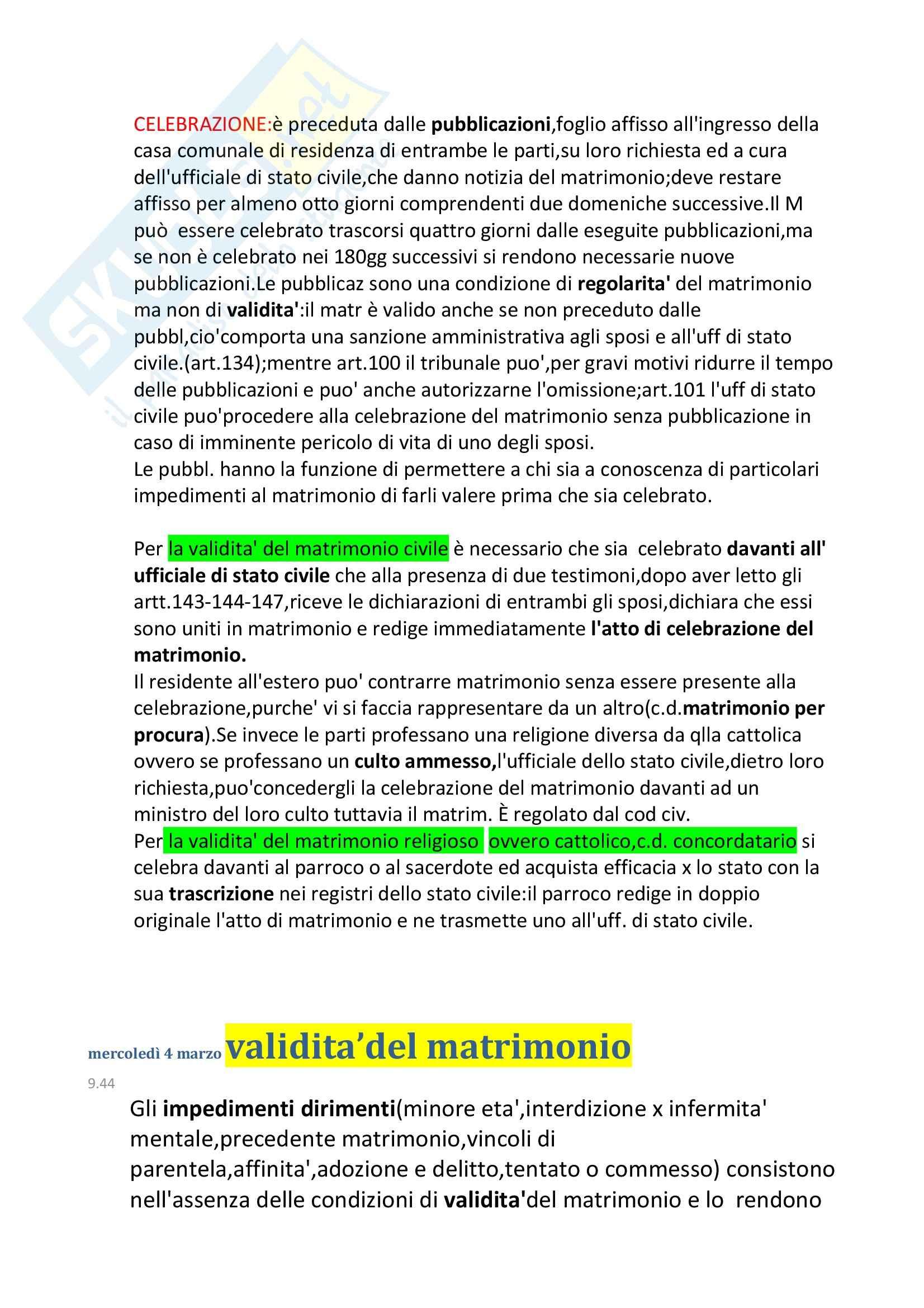 Diritto privato e di famiglia  - il matrimonio Pag. 2
