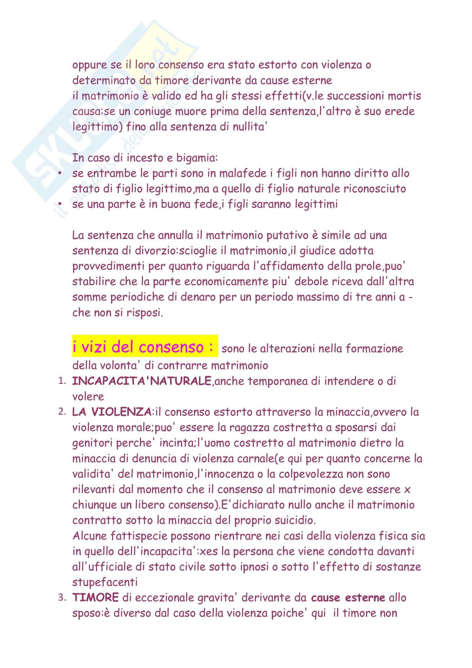 Diritto privato e di famiglia  - il matrimonio Pag. 6