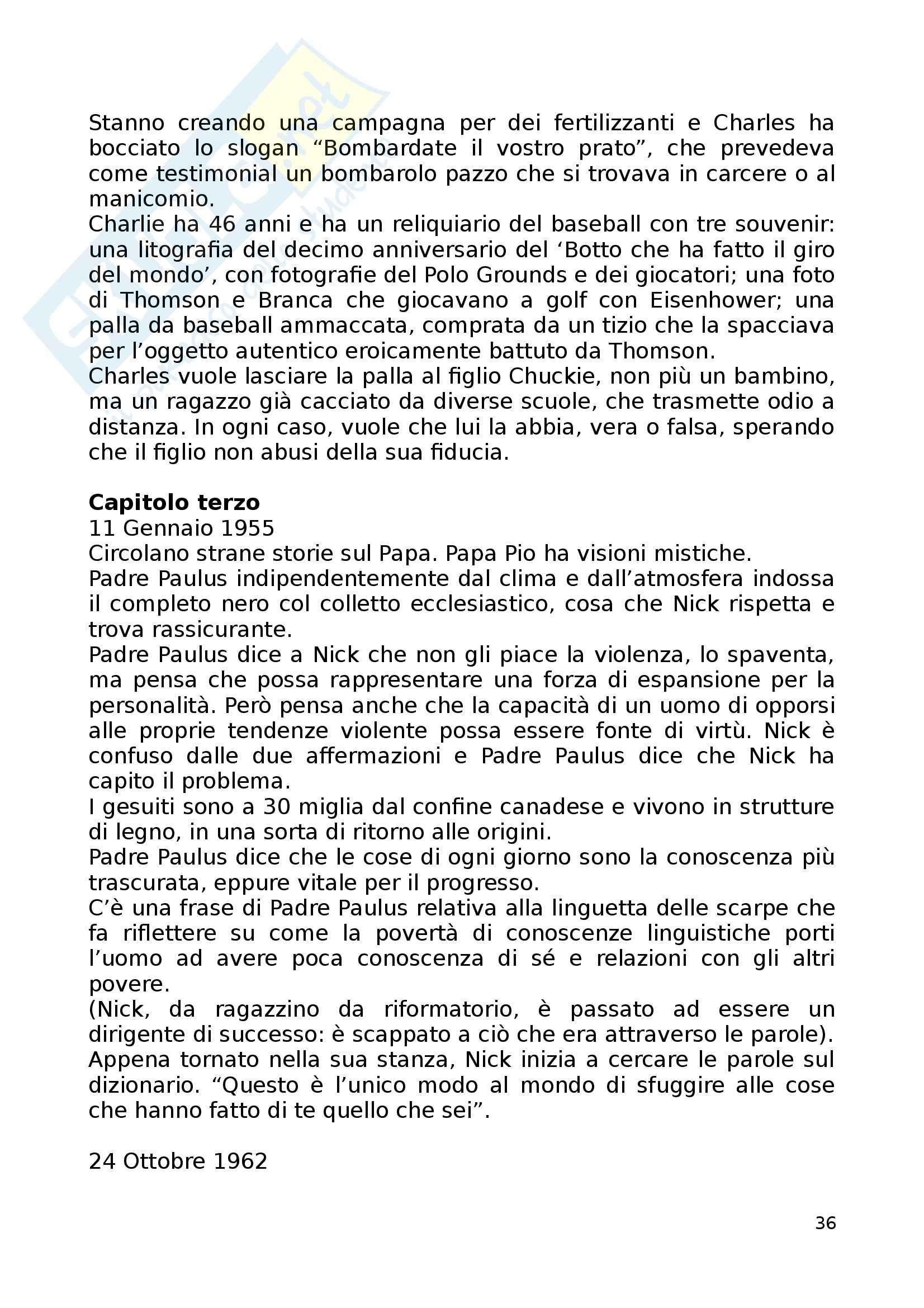 Riassunto esame Letterature comparate, prof. Vittorini, libro consigliato Underworld, De Lillo Pag. 36