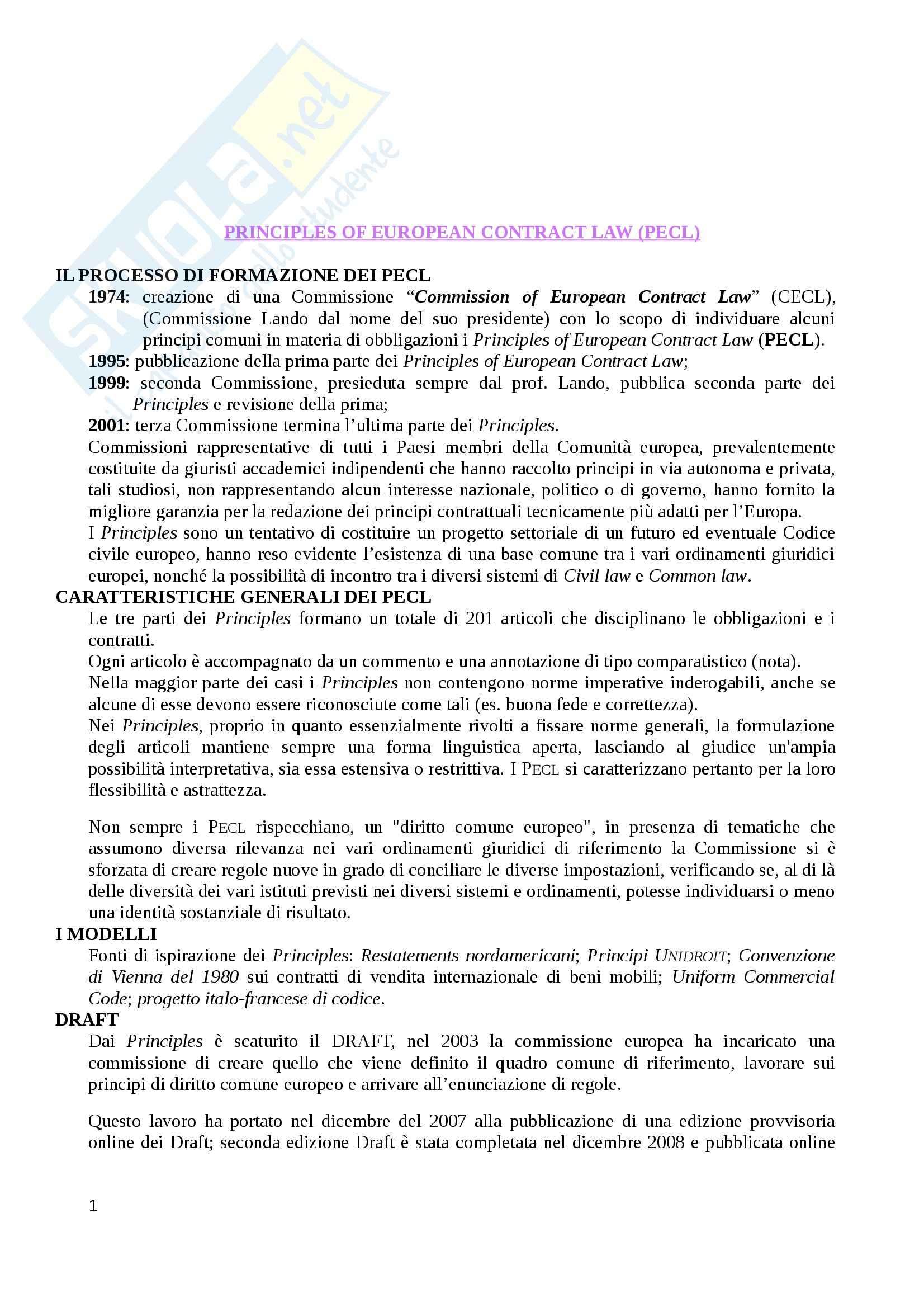 Riassunto esame Diritto europeo, prof. Luchetti