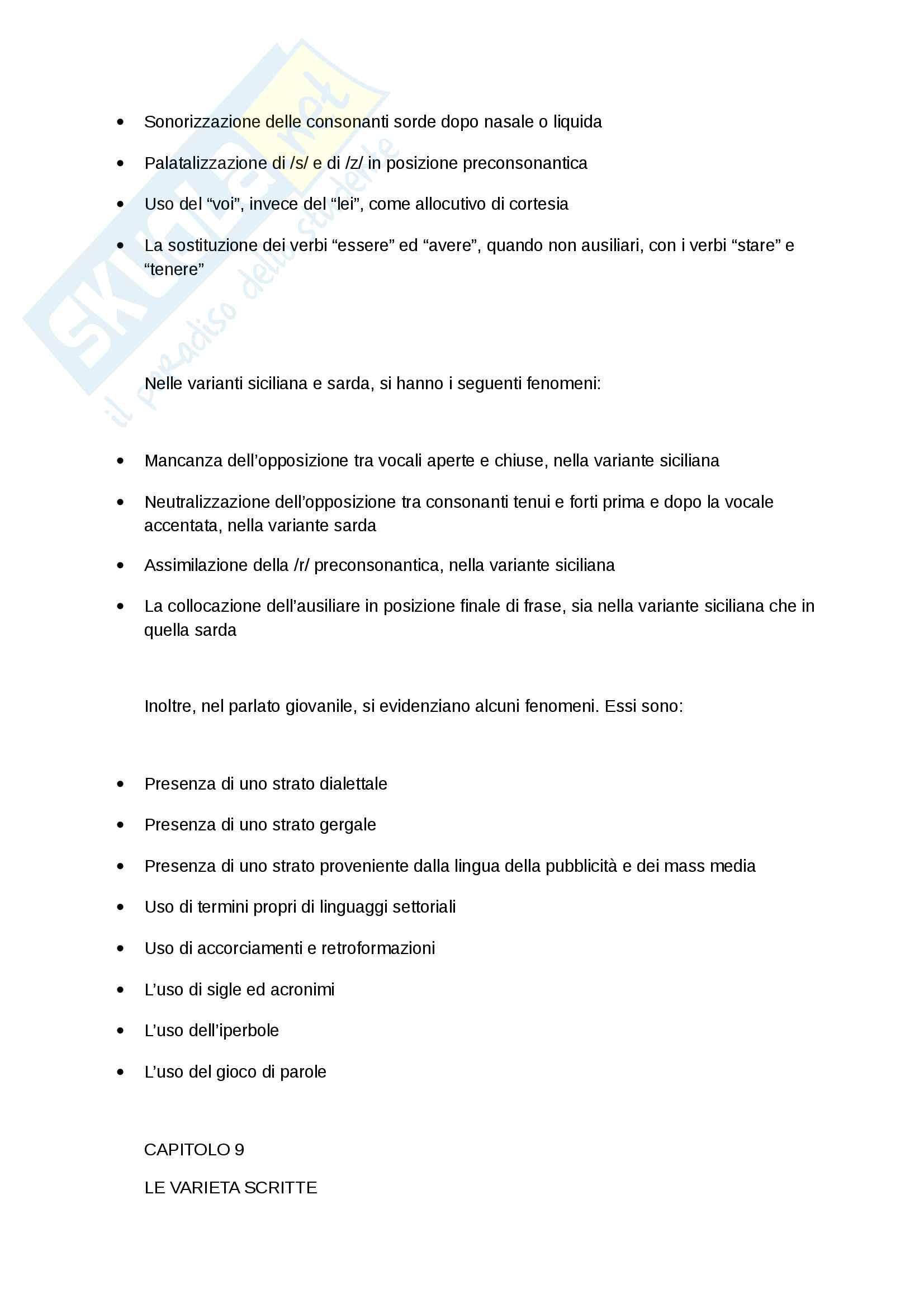 Riassunto esame Linguistica Italiana, prof.Castiglione, libro consigliato, Paolo d'Achille, l'Italiano Contemporaneo Pag. 16