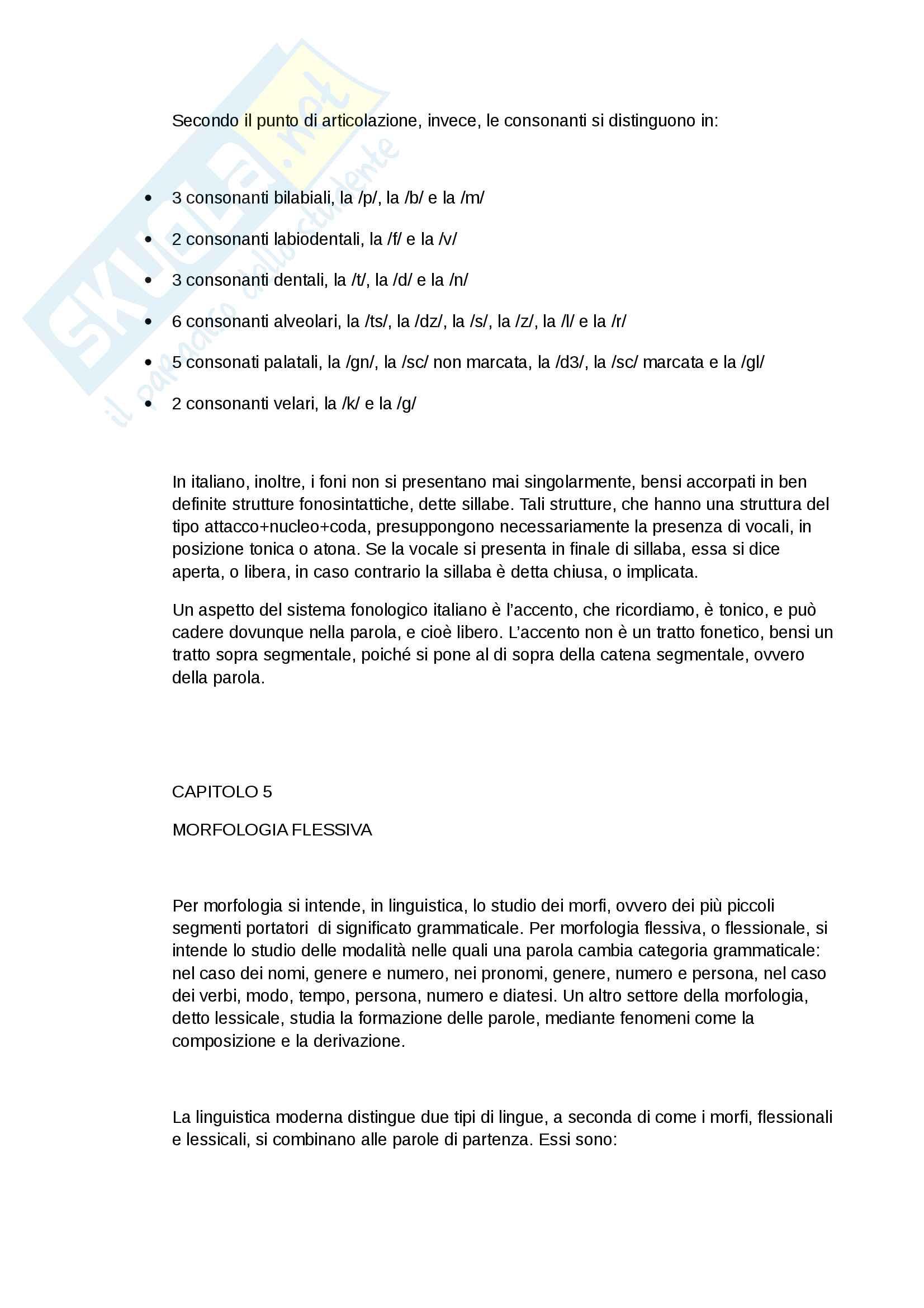 Riassunto esame Linguistica Italiana, prof.Castiglione, libro consigliato, Paolo d'Achille, l'Italiano Contemporaneo Pag. 6