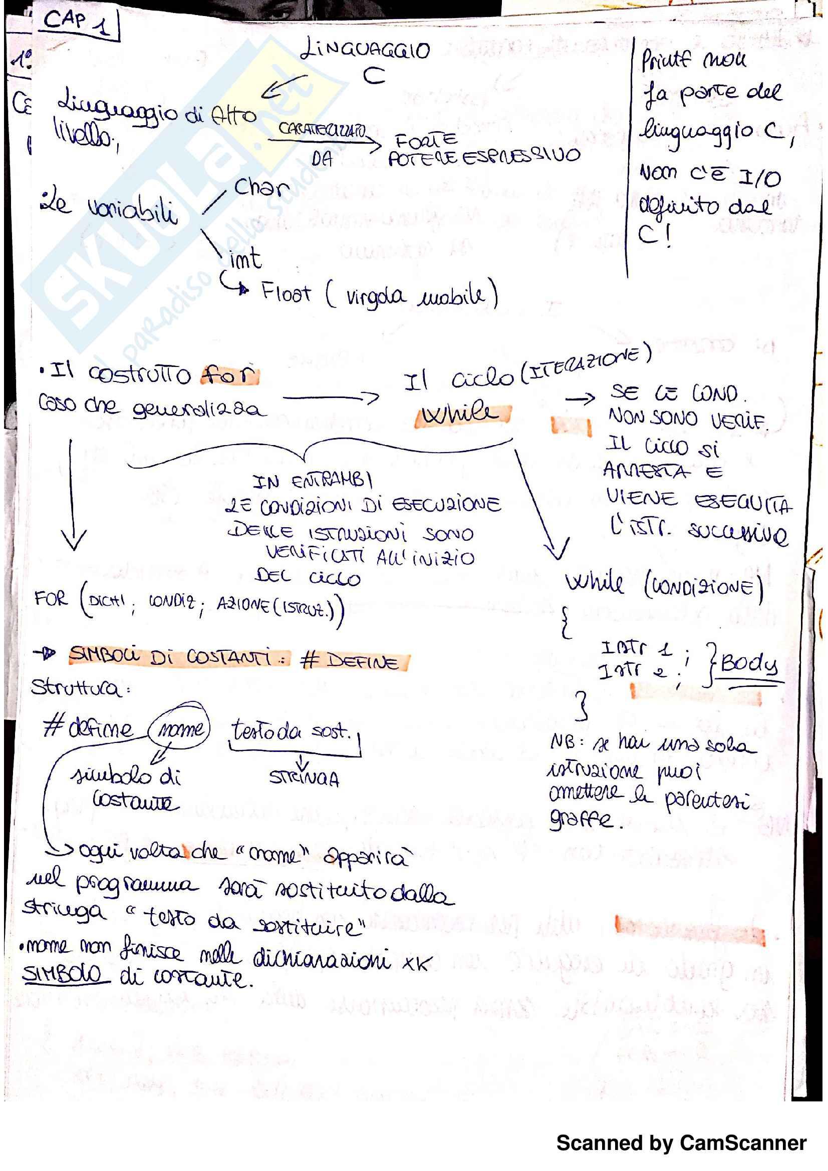Linguaggio C: Teoria ed esempi
