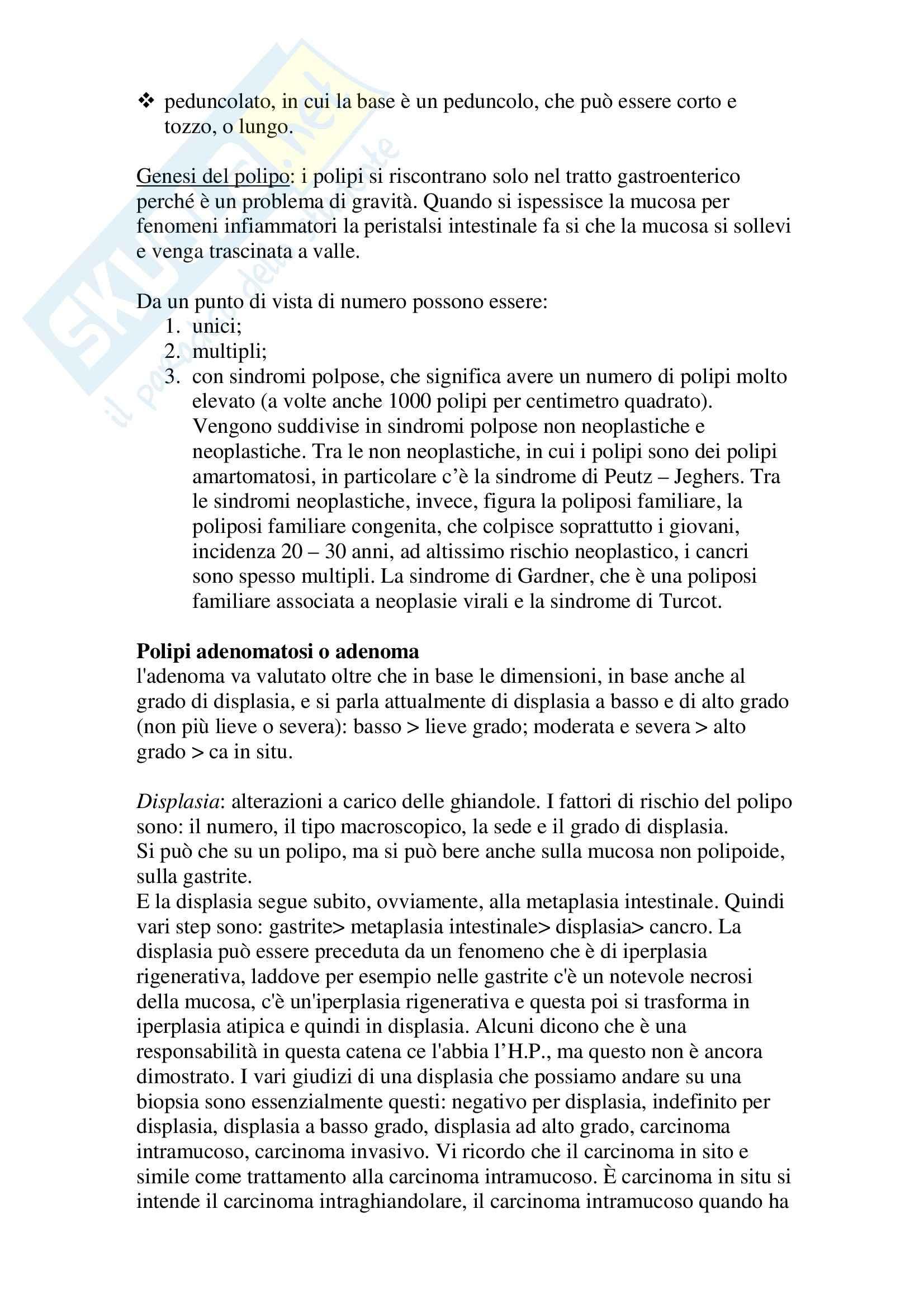 Anatomia patologica - iperplasia epiteliale Pag. 6