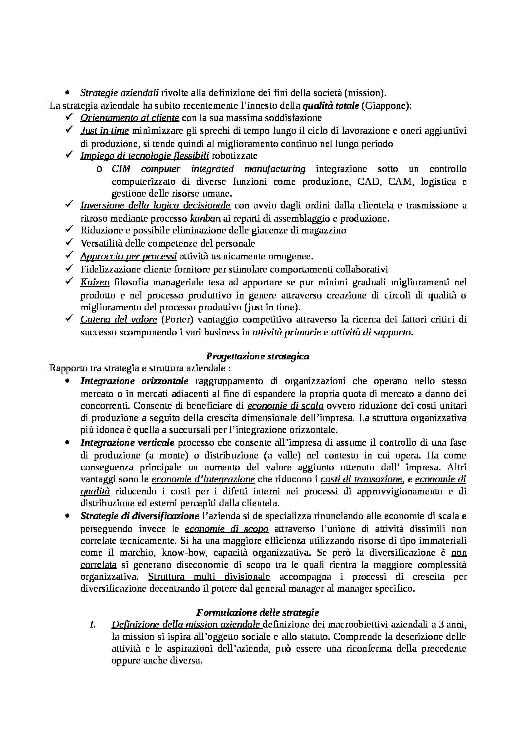 Pianificazione e controllo - Appunti Pag. 2