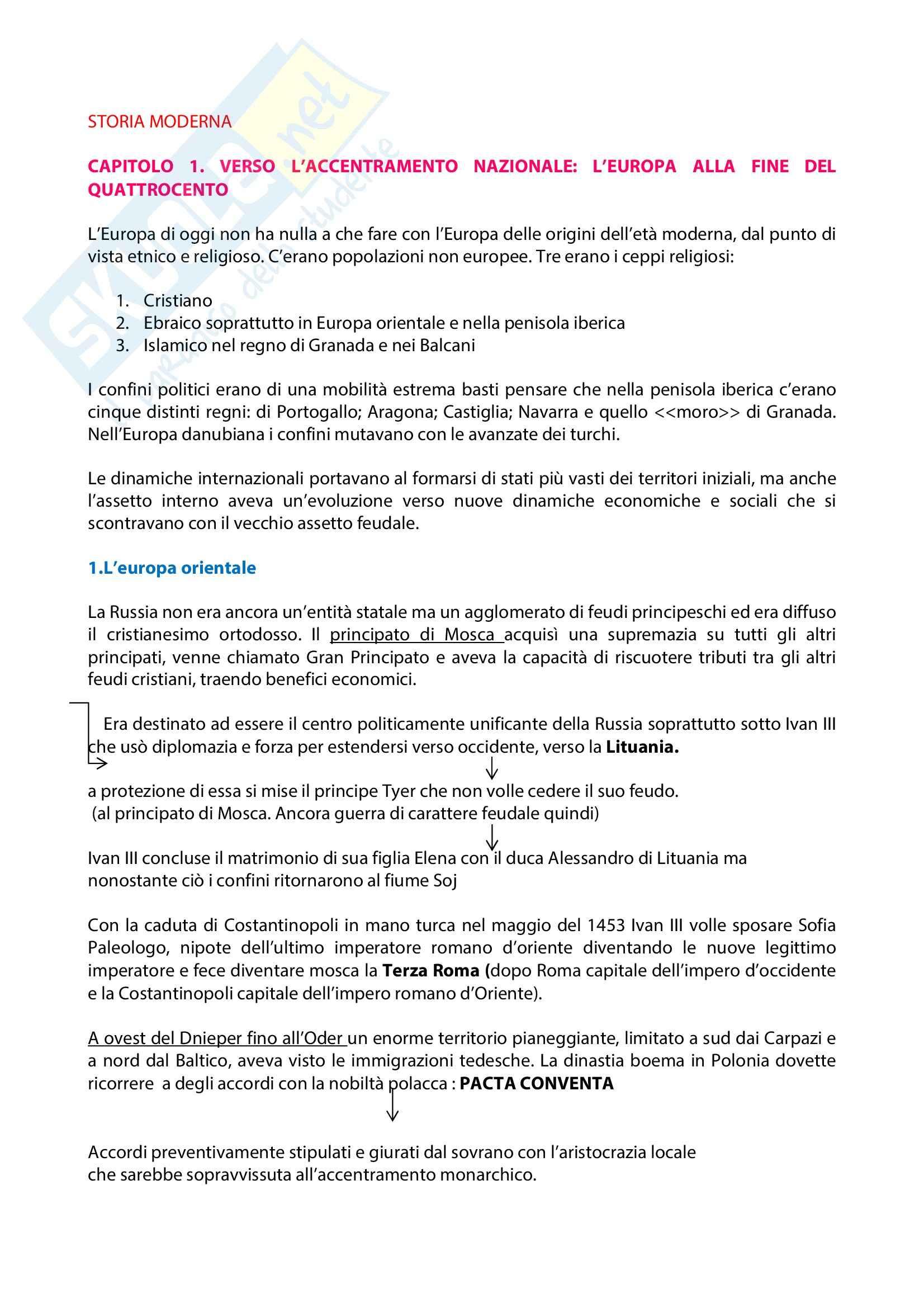 Storia moderna -  Aubert, Cacucci