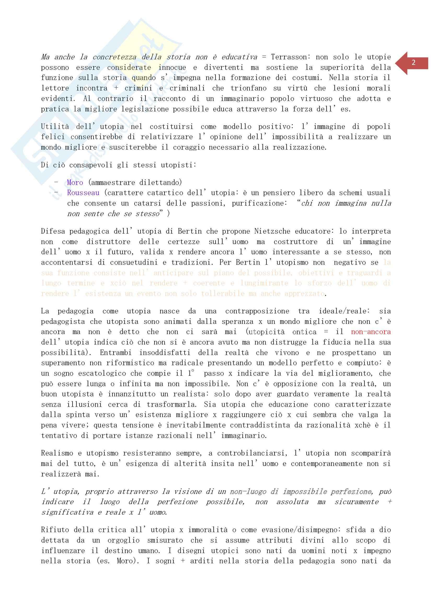 Riassunto esame Educazione degli adulti, prof. Mariani, libro consigliato Pedagogia e utopia, Mariani Pag. 2