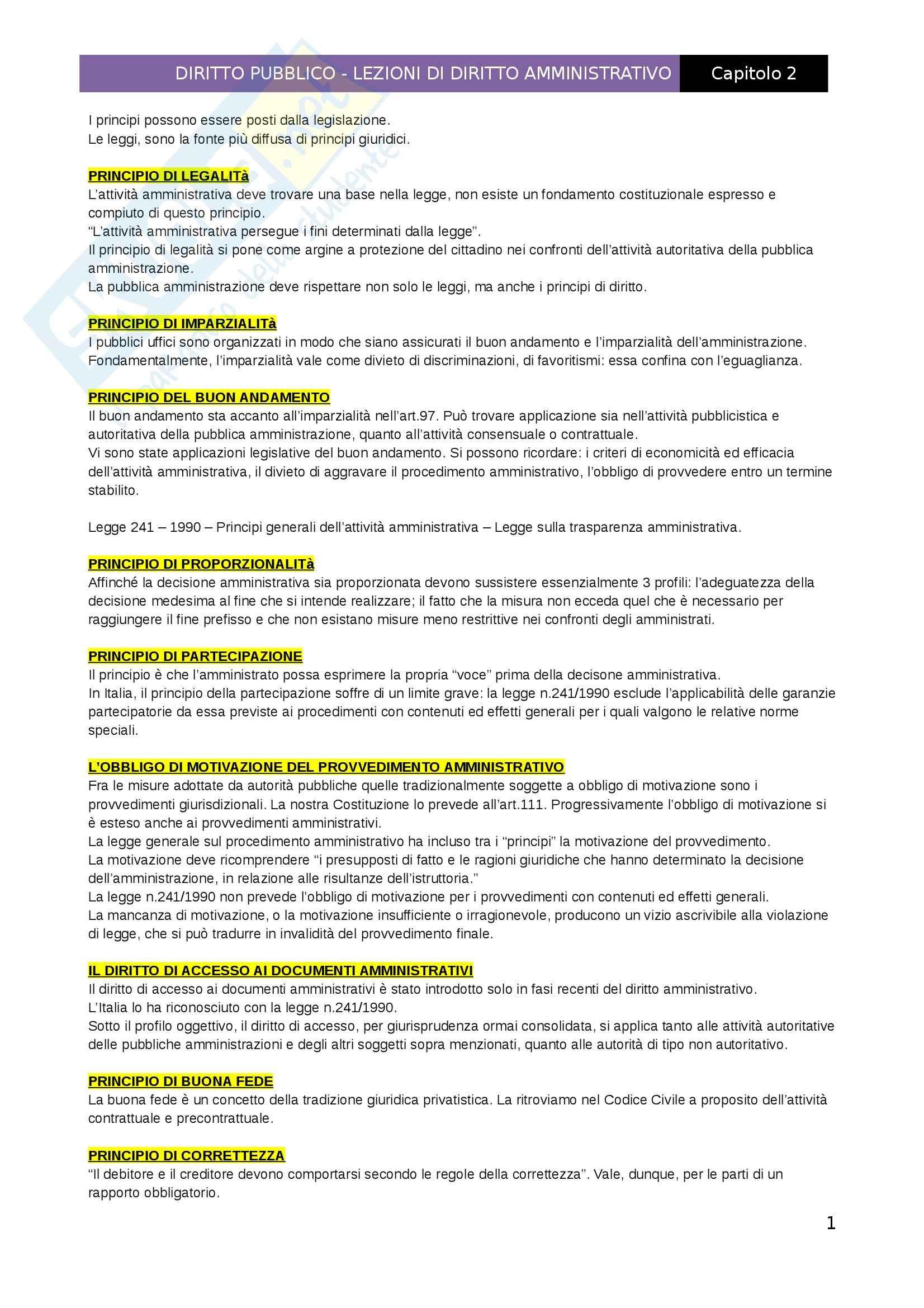Lezioni di diritto Amministrativo, Capitolo 2