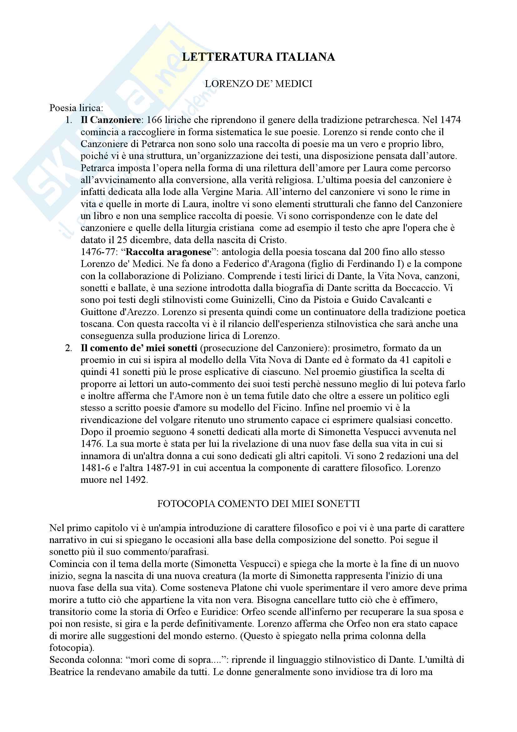 Letteratura Italiana Secoli XVII-XIX, docente Attilio Bettinzoli, La letteratura italiana dal Barocco al tardo Romanticismo (Seconda Parte del Corso)