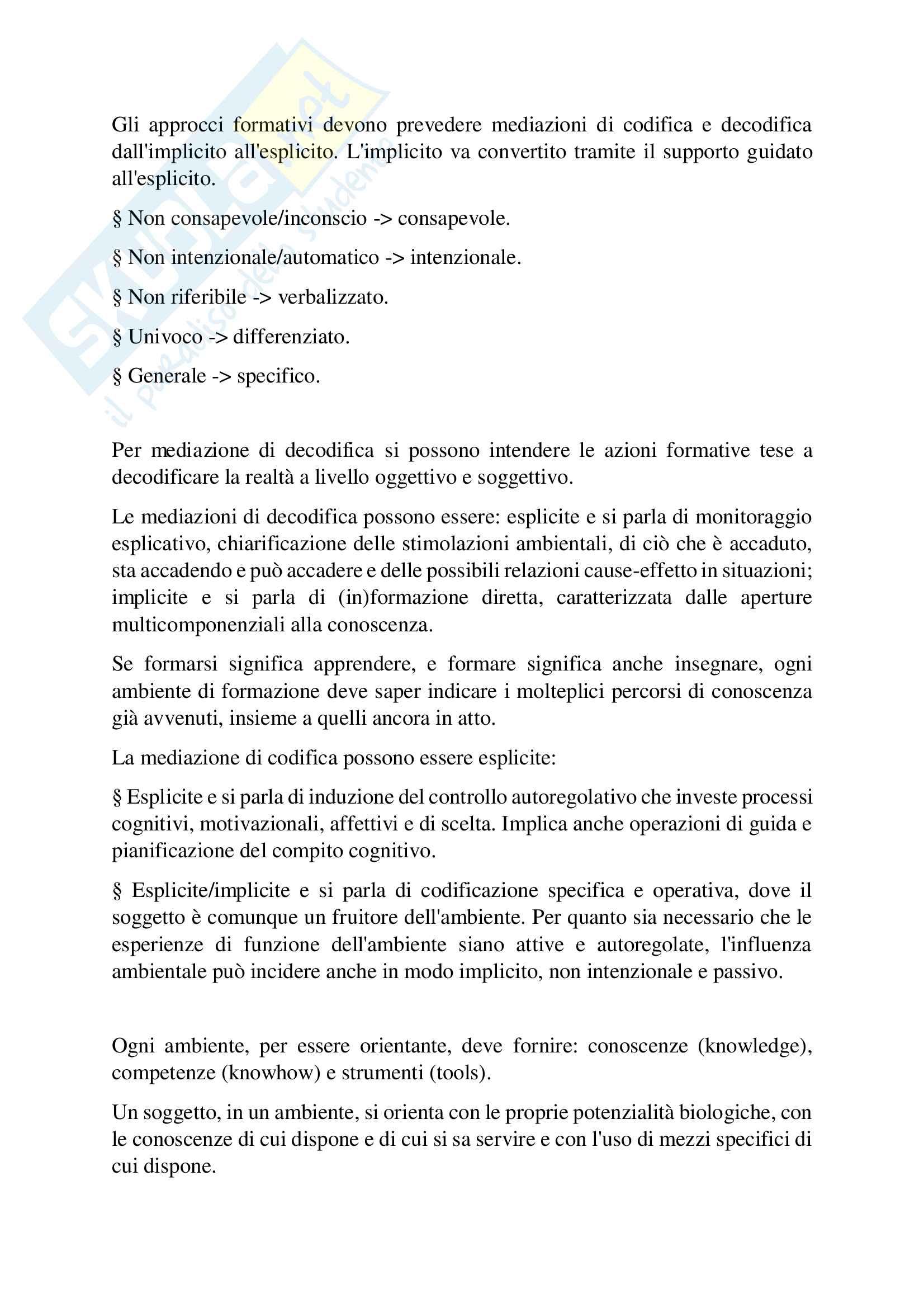 Riassunto Esame Modelli e processi formativi, Prof. Ariemma Lucia, Libro consigliato Modelli teorici e metodologici dell'apprendimento, Santoianni F., Striano M. Pag. 26