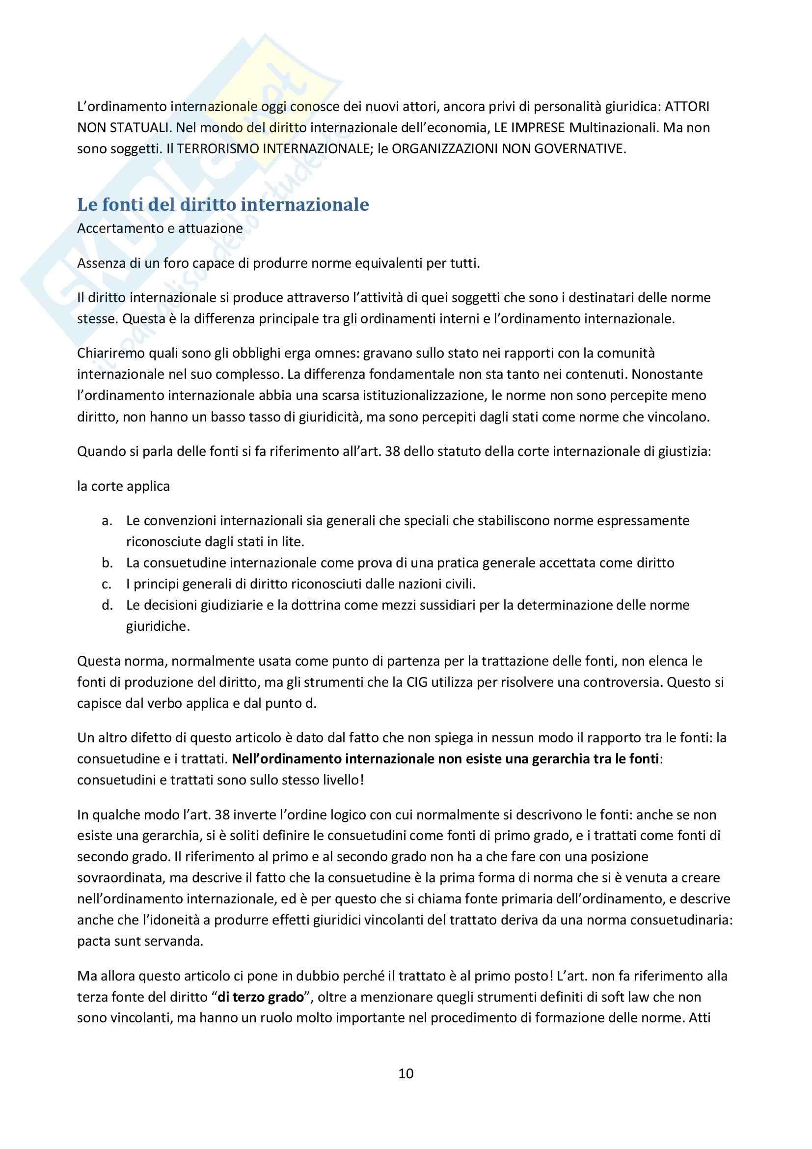 Lezioni, Diritto internazionale Pag. 11