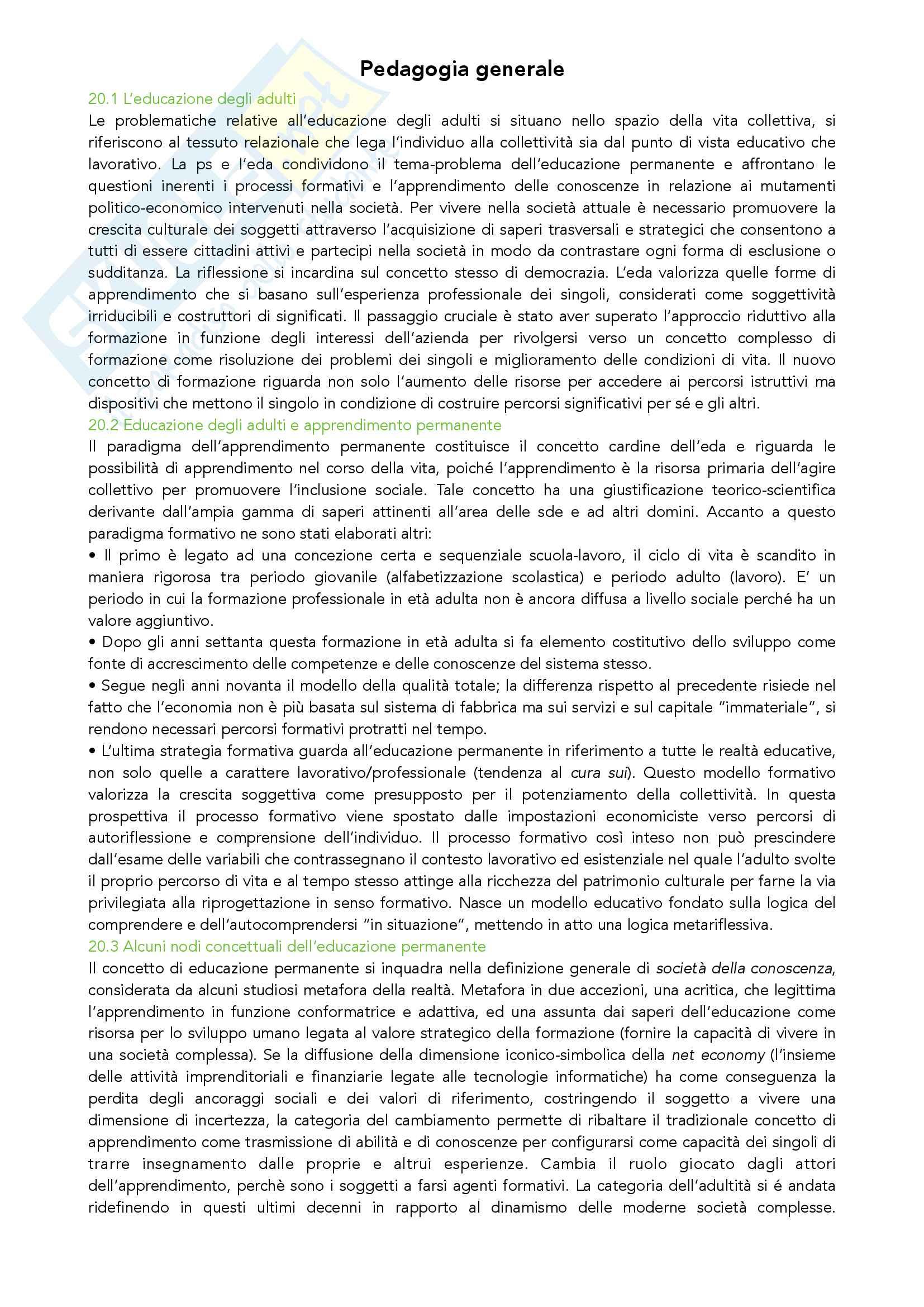Riassunto esame Pedagogia Generale, prof. Madrussan, libro consigliato Pedagogia Generale, Cambi Pag. 6