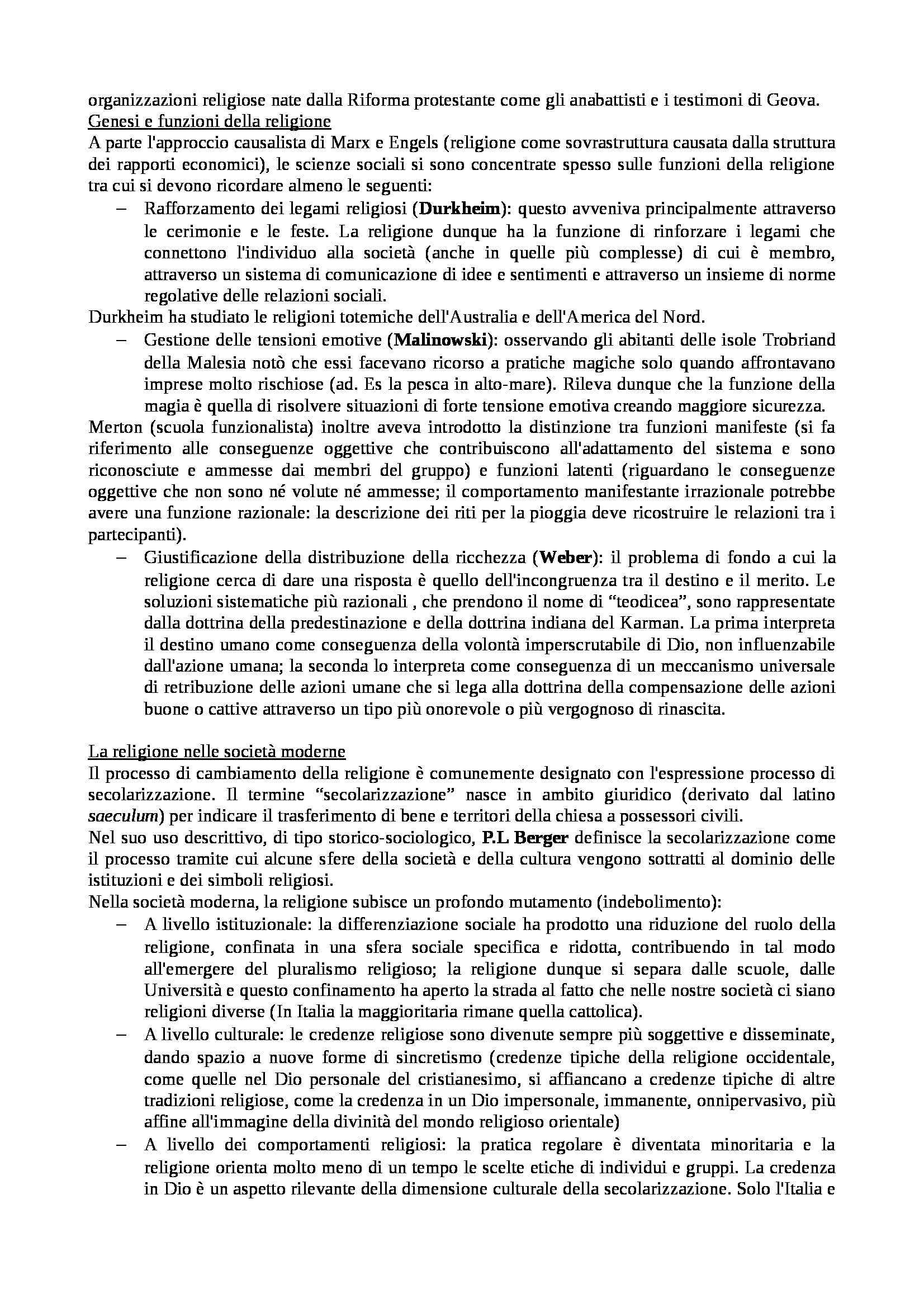 Riassunto esame Istituzioni di sociologia, libro adottato Sociologia dei processi culturali, Sciolla Pag. 36