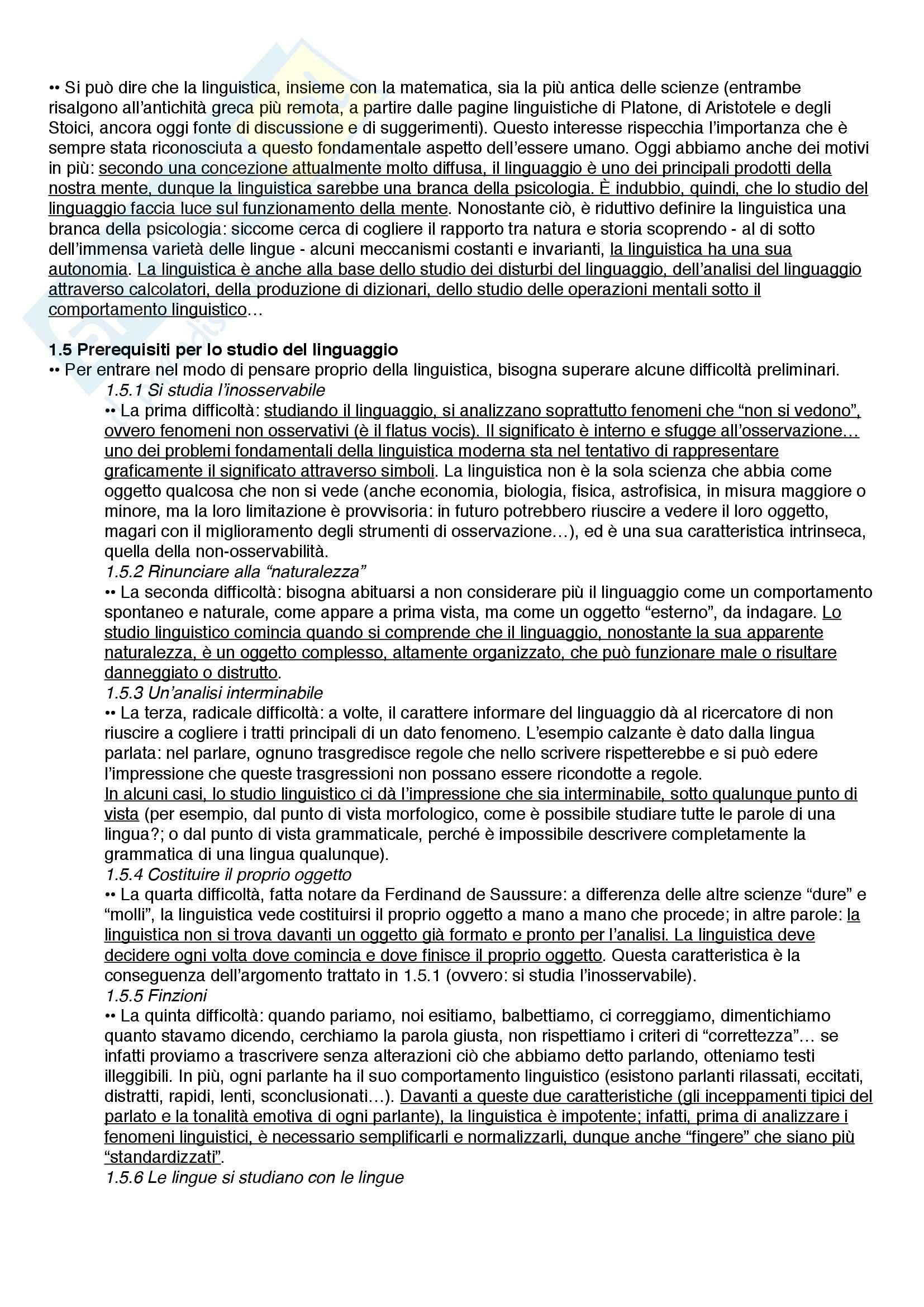 Riassunto esame Linguistica, prof. Catricalà, libro consigliato Nuovi fondamenti di linguistica, Simone Pag. 2