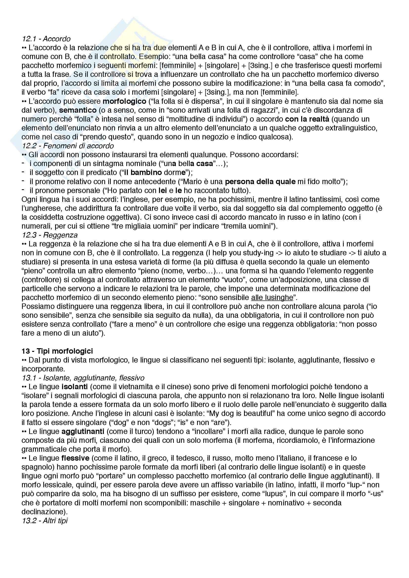 Riassunto esame Linguistica, prof. Catricalà, libro consigliato Nuovi fondamenti di linguistica, Simone Pag. 21